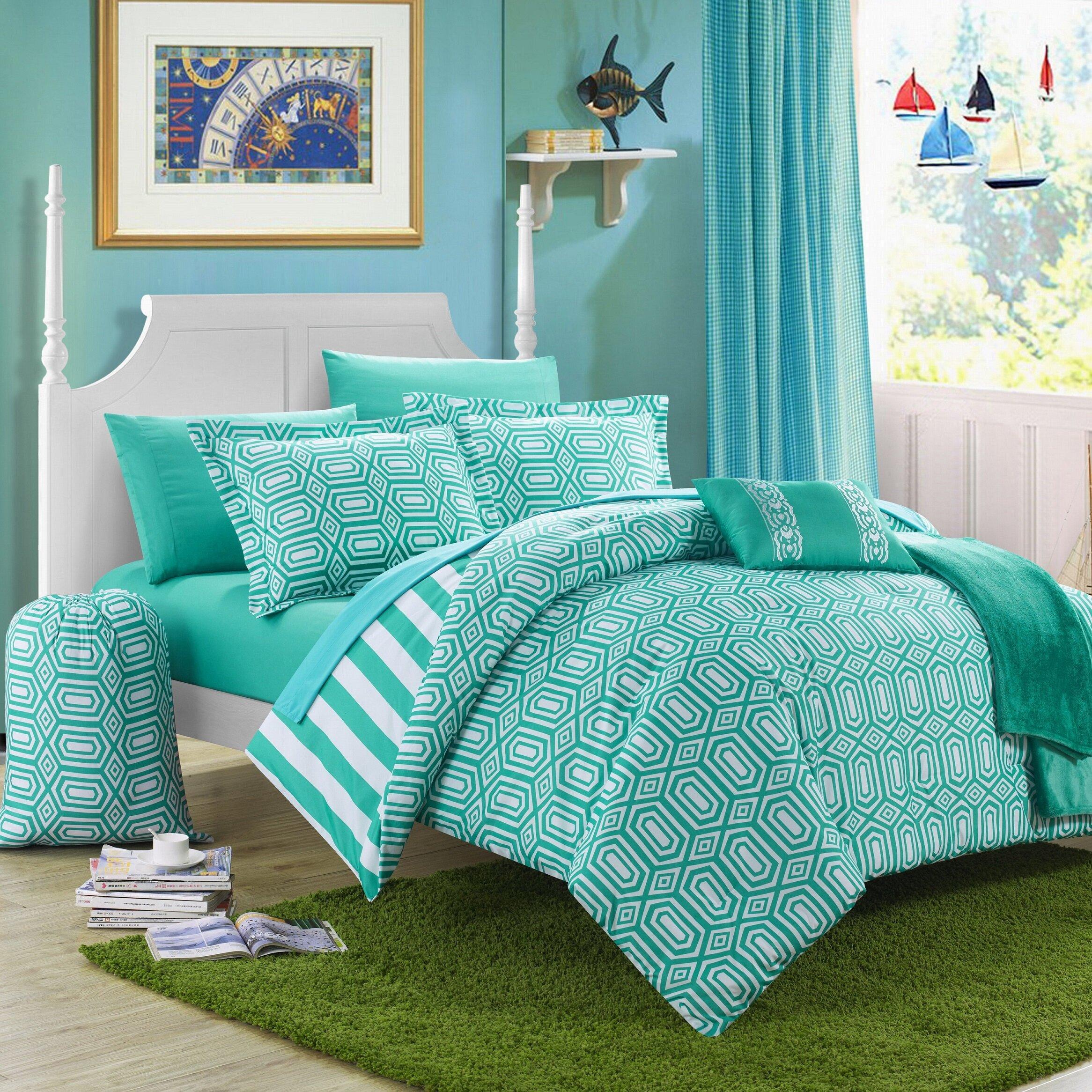 paris 10 piece comforter set wayfair. Black Bedroom Furniture Sets. Home Design Ideas