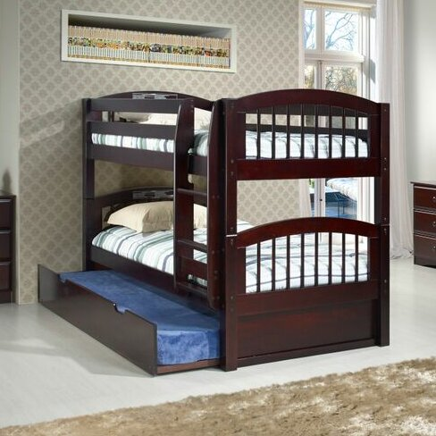 camaflexi twin bunk bed with storage wayfair. Black Bedroom Furniture Sets. Home Design Ideas