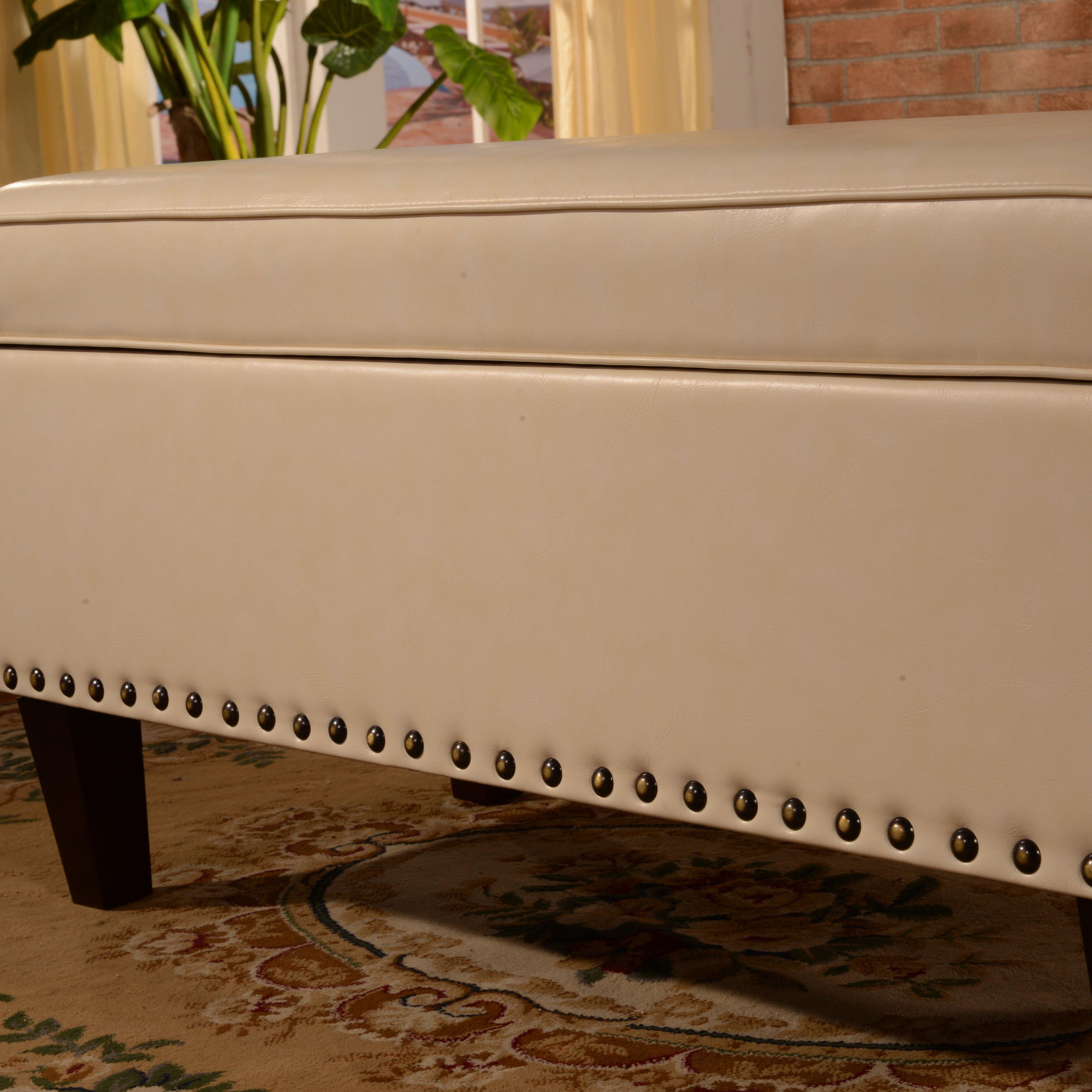 Noya Usa Castilian Upholstered Storage Bedroom Bench: Storage Bedroom Bench