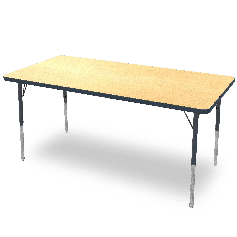 72 quot x 24 quot rectangular activity table wayfair