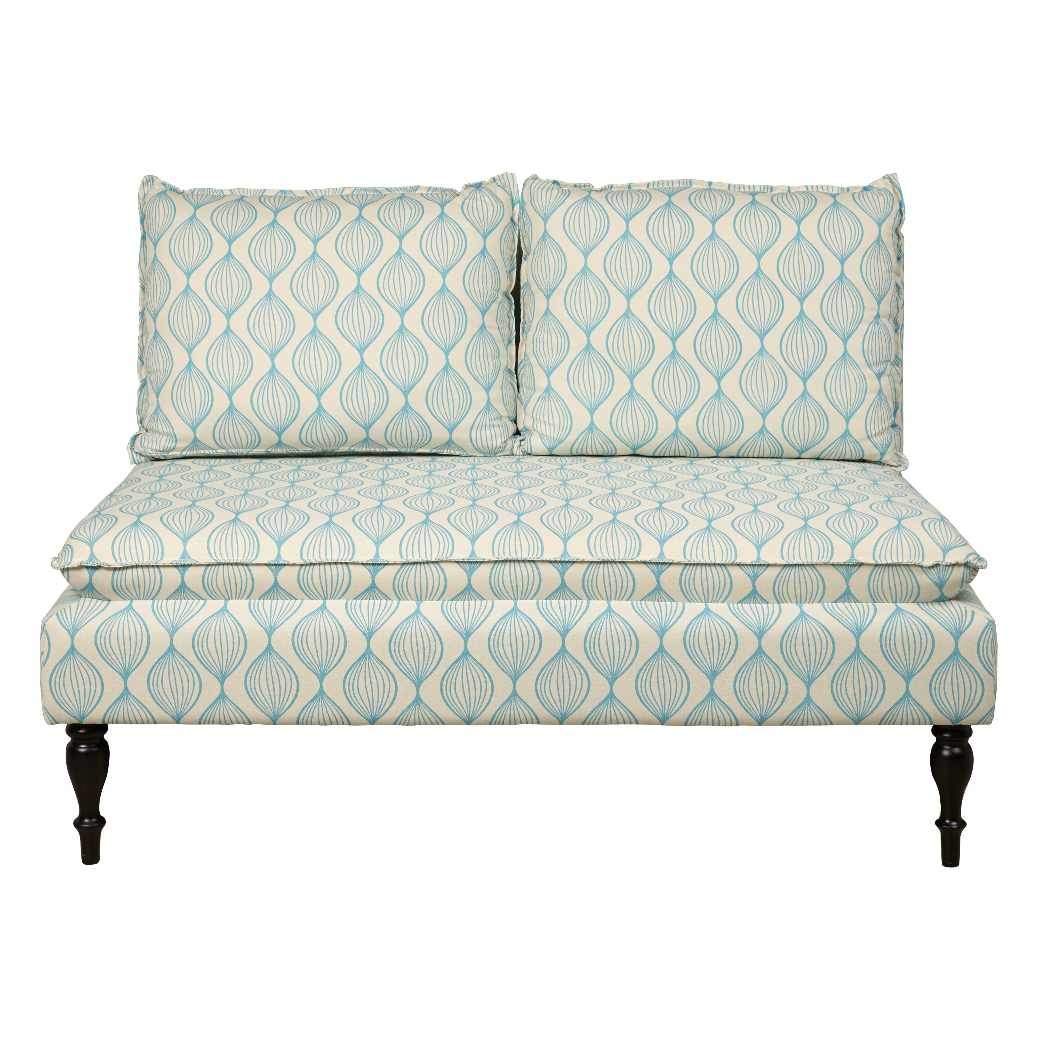 Restaurant Banquettes For Sale: Upholstered Graphic Print Banquette Sofa