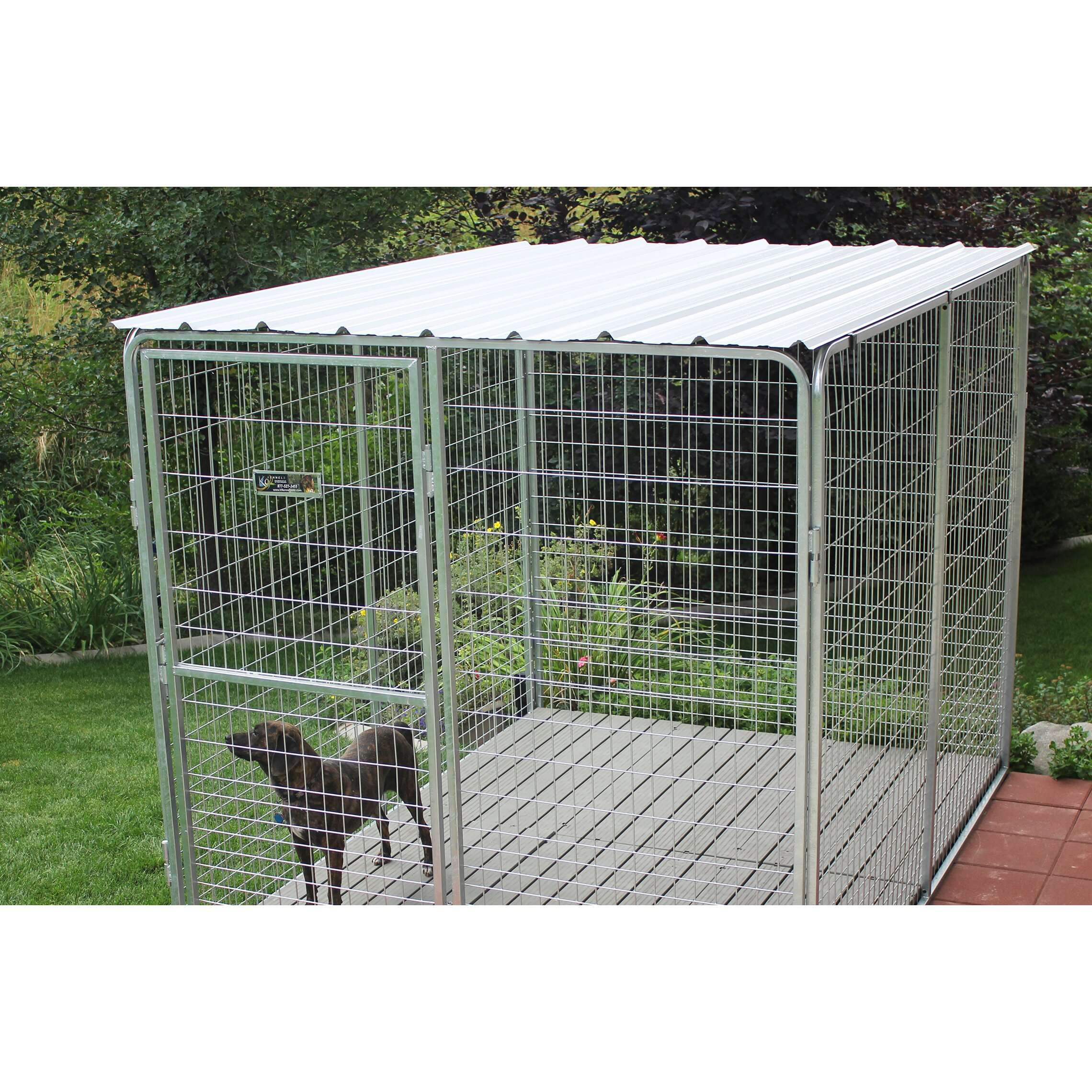K9 Kennel Basic Corrugated Yard Kennel Metal Top Amp Reviews