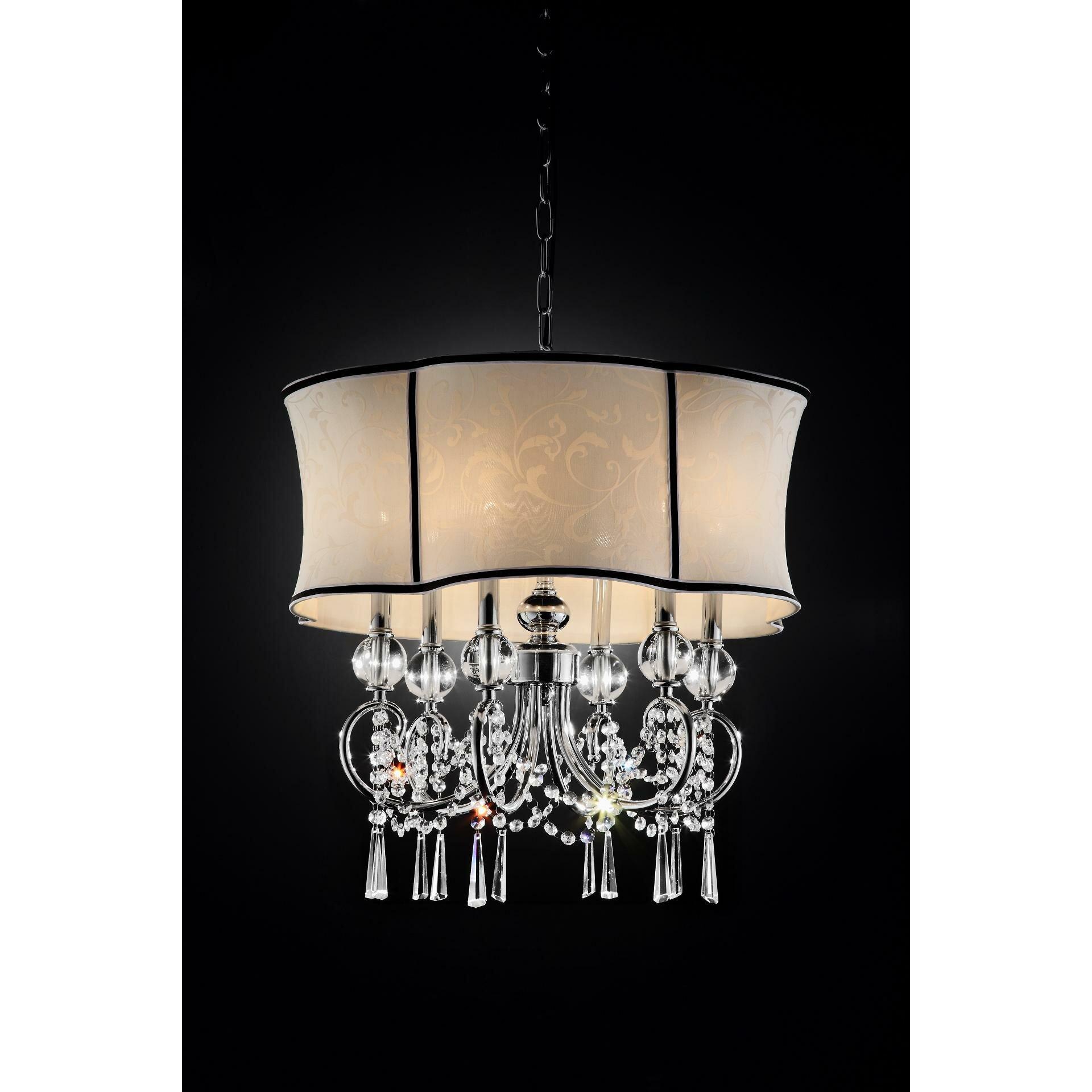 Ok lighting nuvola 6 light crystal chandelier reviews for 6 light crystal chandelier