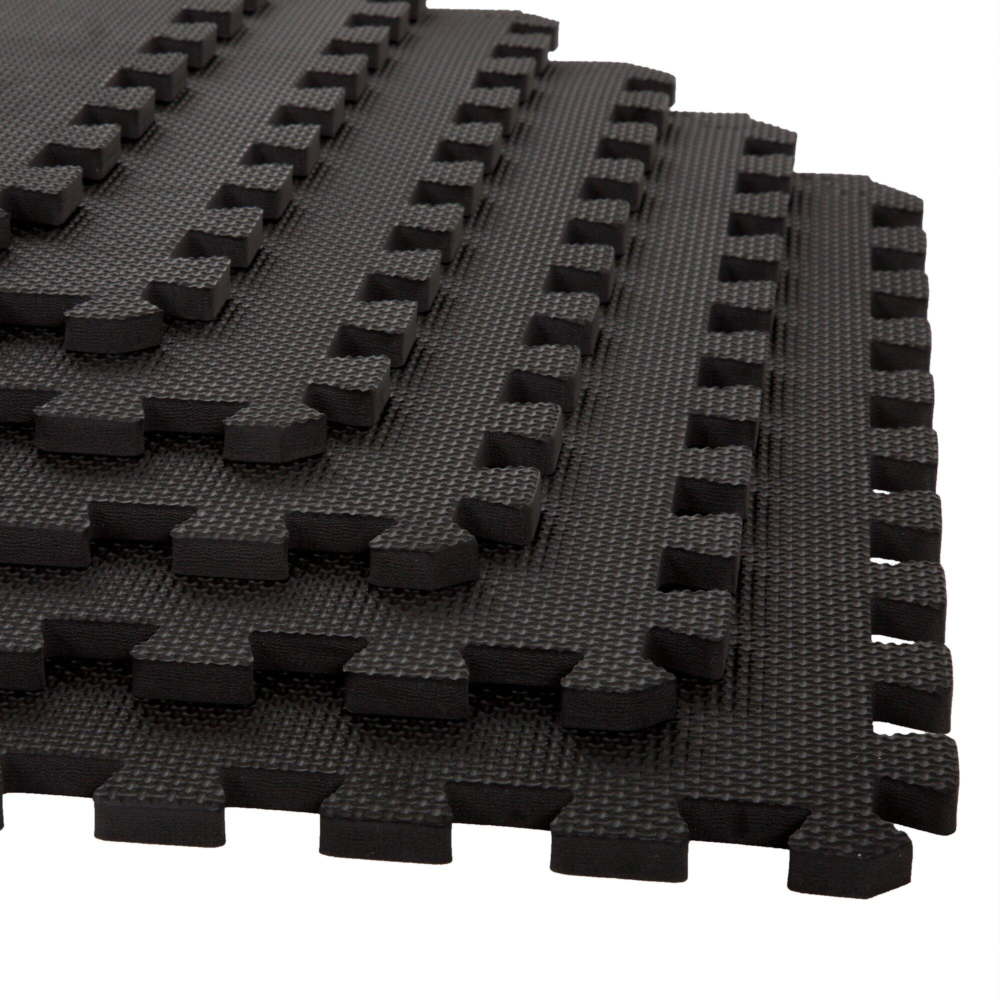 Stalwart Black Eva Foam Floor Mats Set Of 6 Amp Reviews