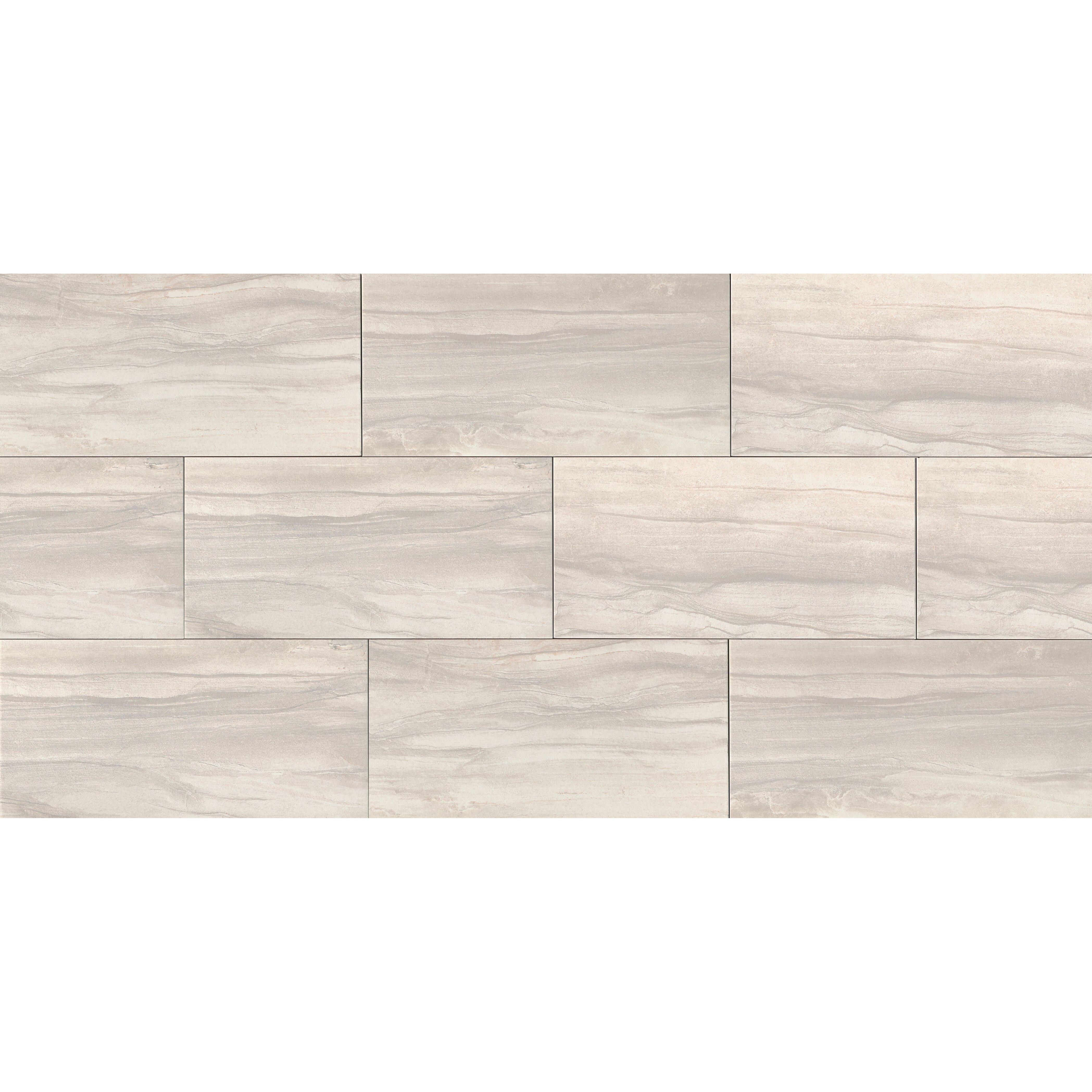 Athena 12 x 24 porcelain field tile in pearl wayfair for 12 x 24 ceramic floor tile