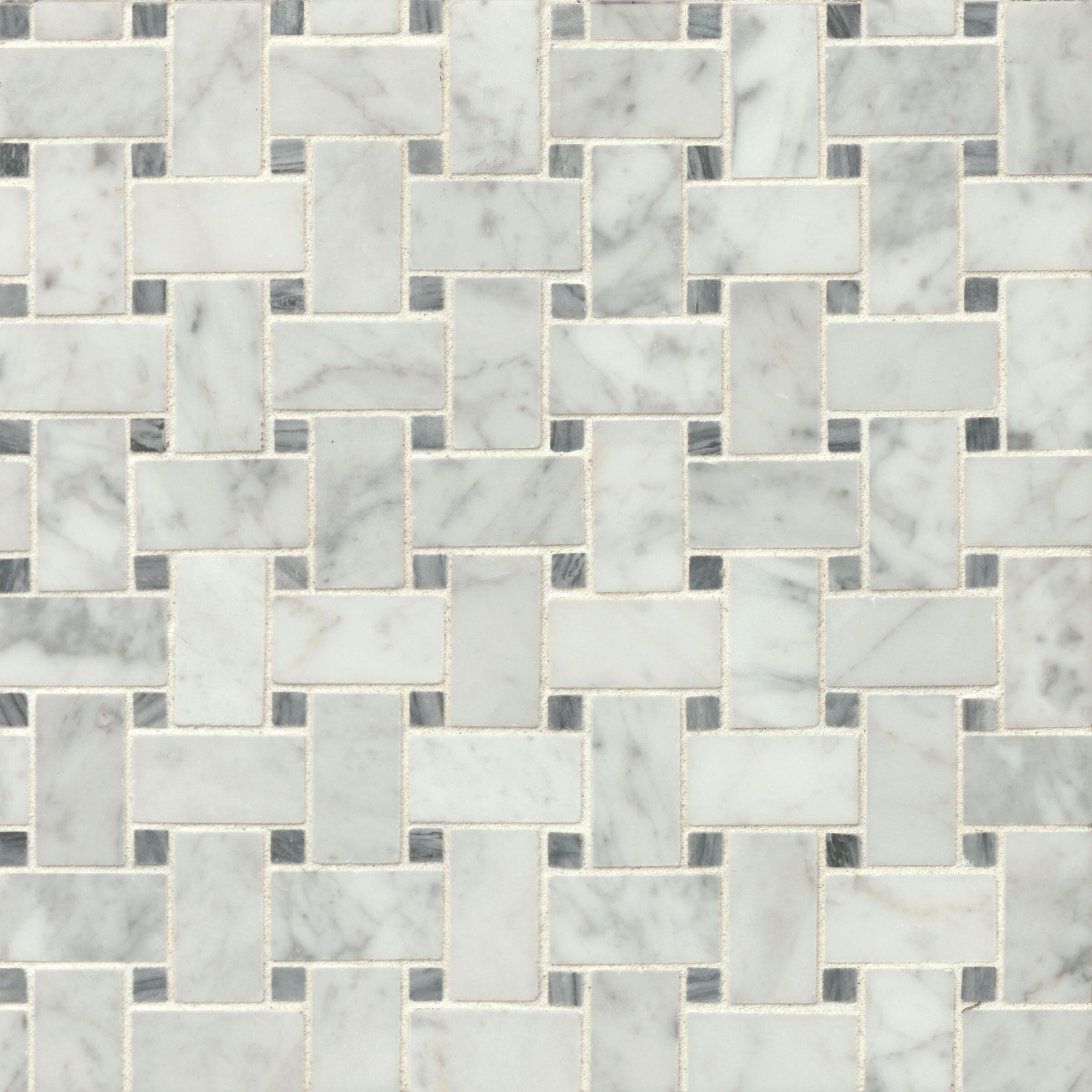 "Marble Flooring Essex: Bedrosians Honed 12"" X 12"" Honed Marble Mosaic Tile In"