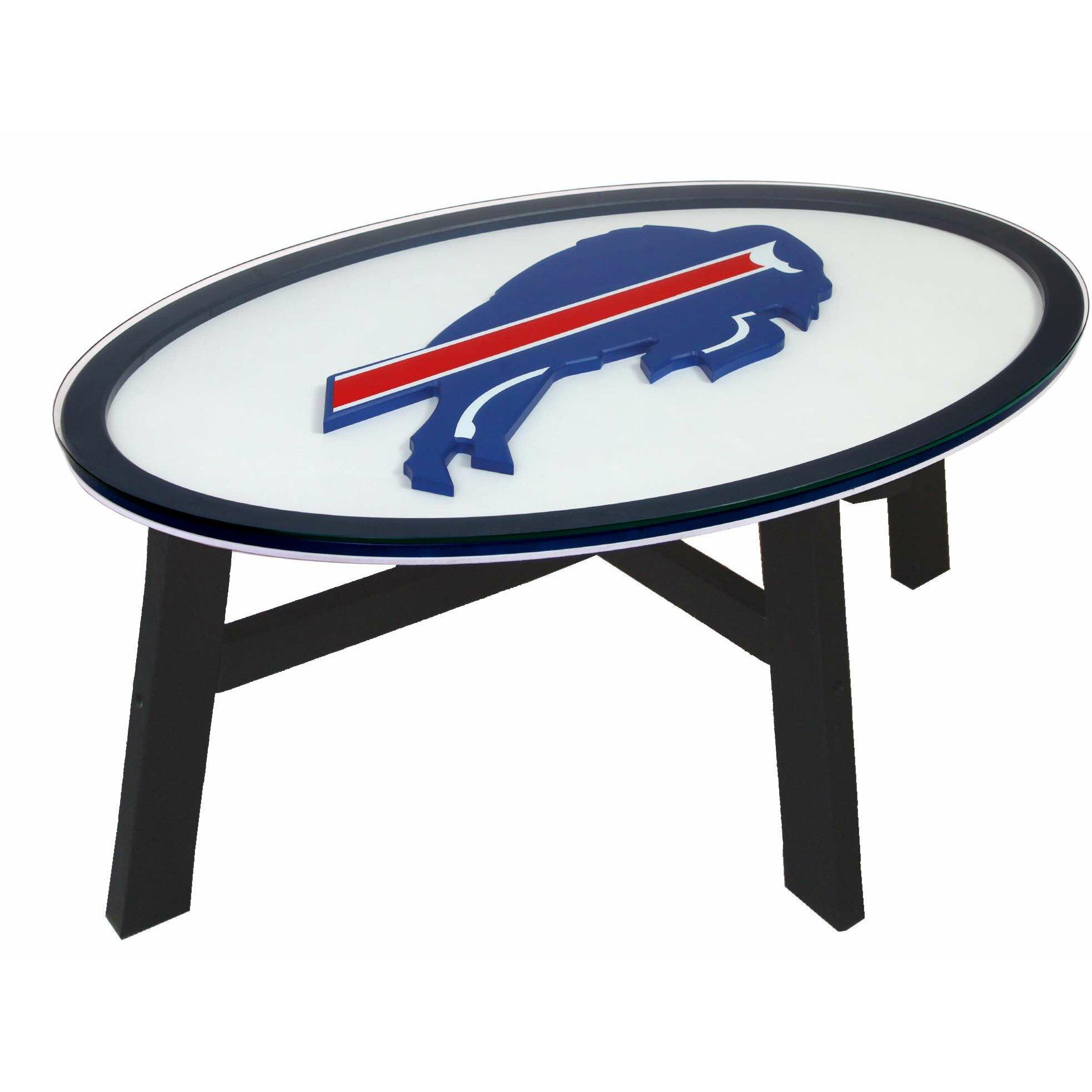 Nfl logo coffee table wayfair for Table table logo