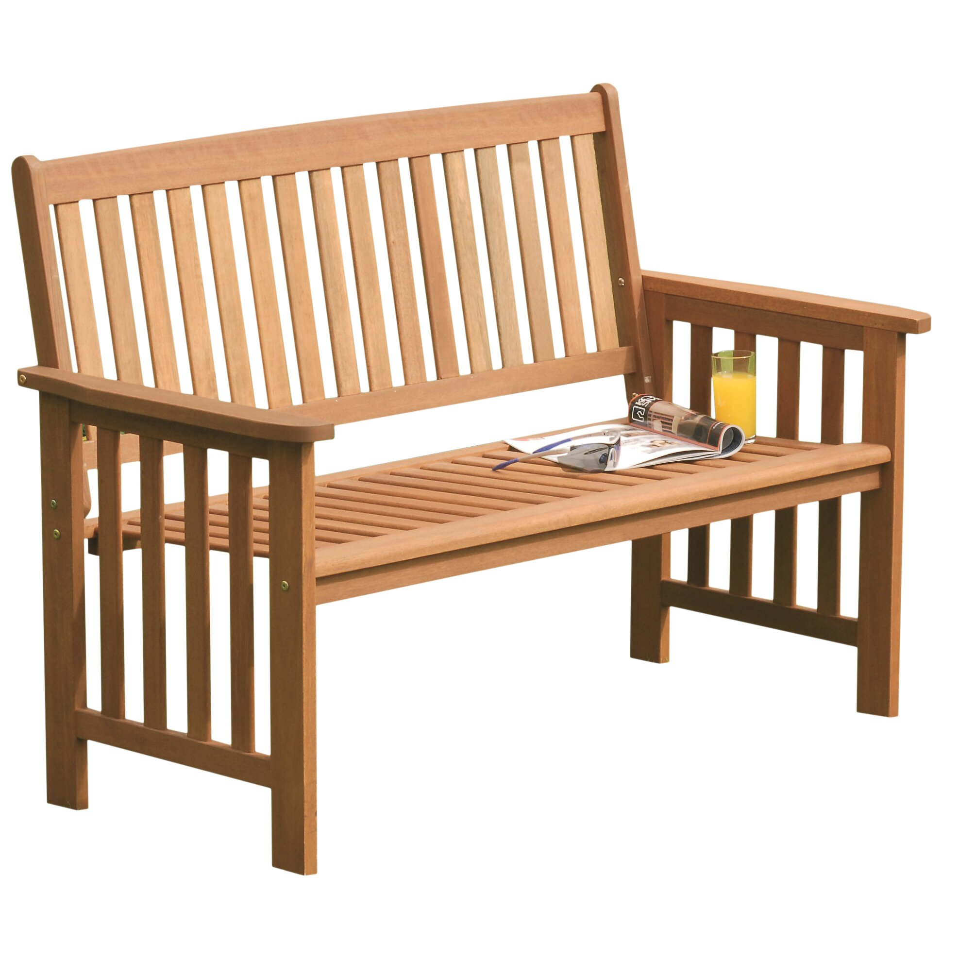 Camillion Wood Garden Bench Wayfair