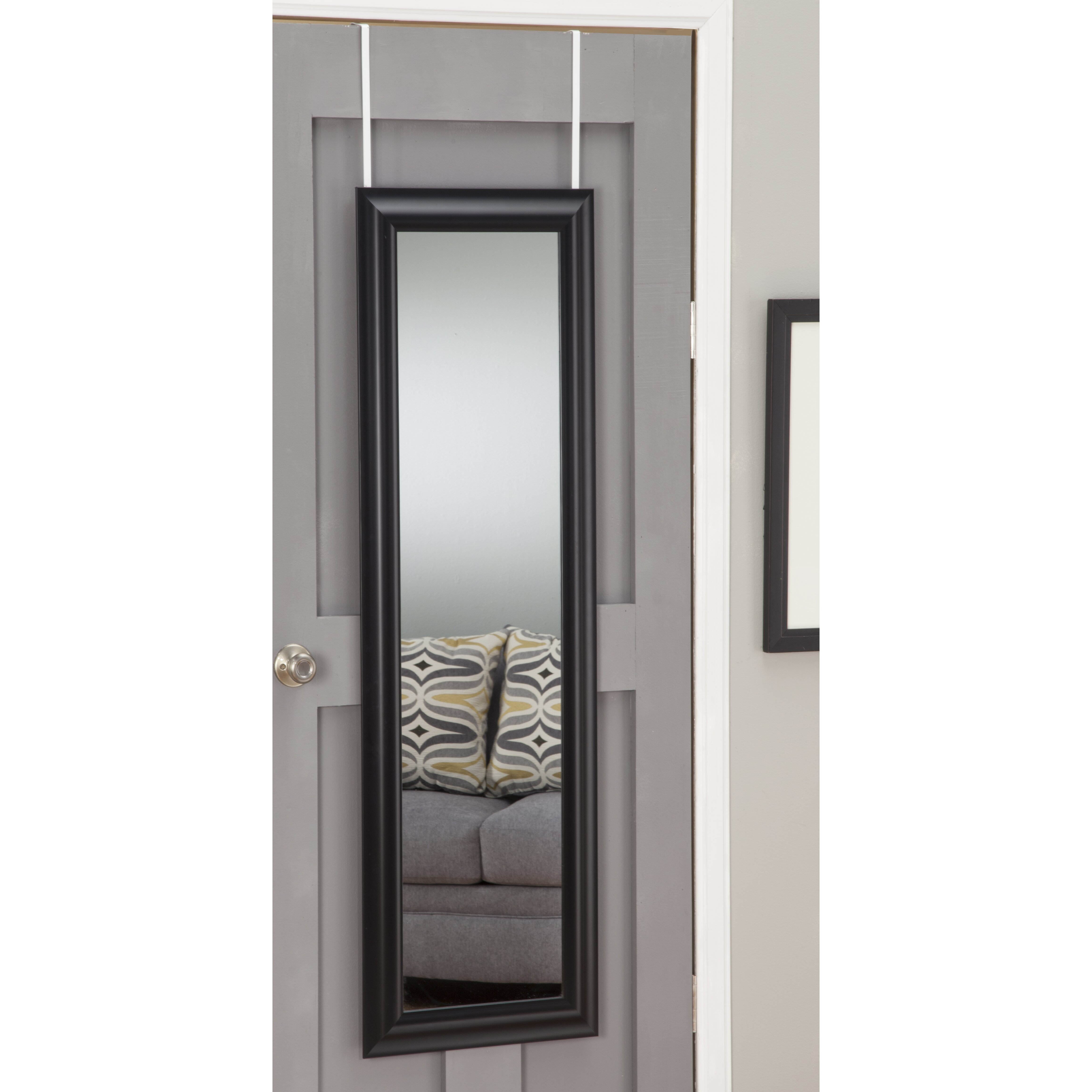 deluxe over the door mirror wayfair. Black Bedroom Furniture Sets. Home Design Ideas