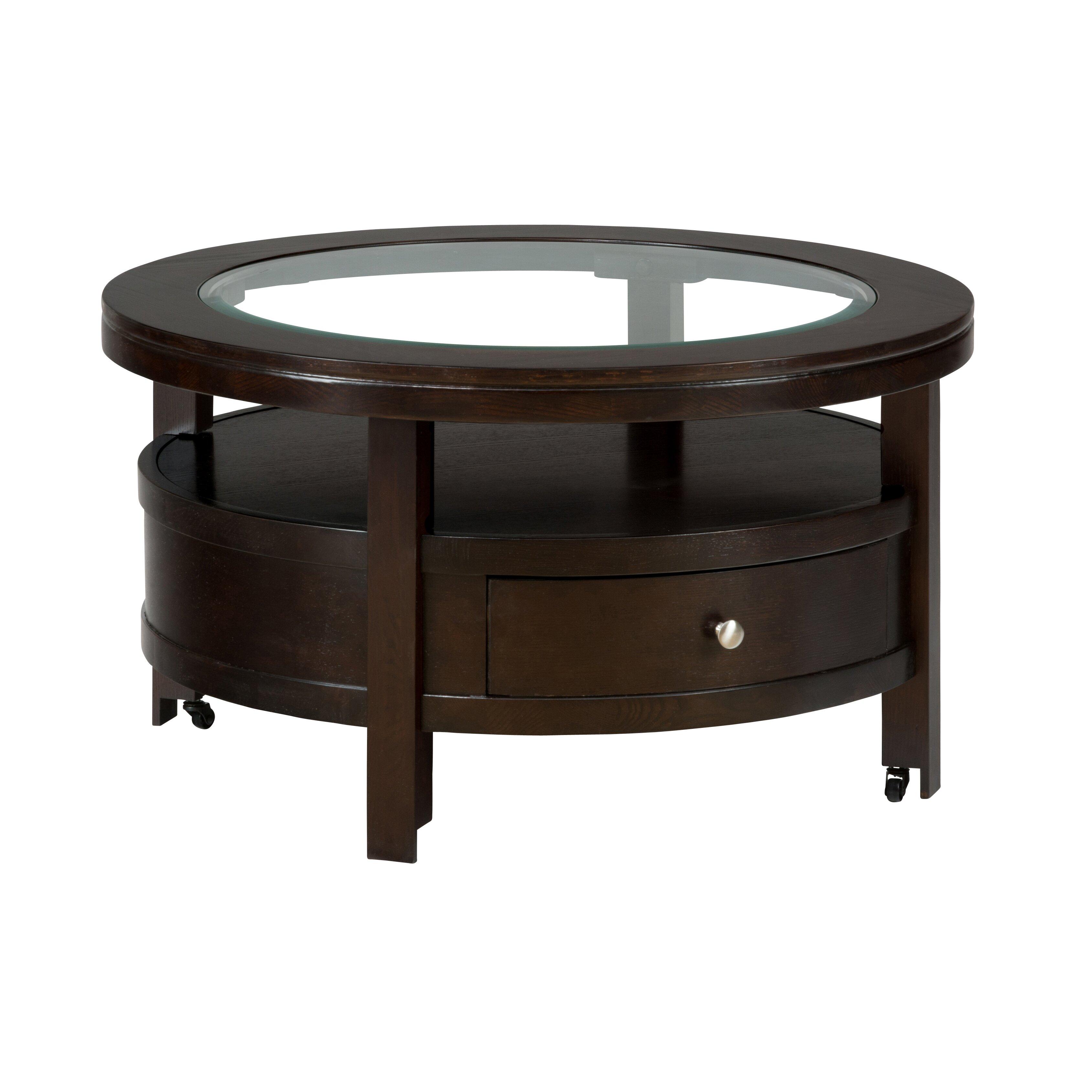jofran marlon round coffee table reviews wayfair. Black Bedroom Furniture Sets. Home Design Ideas