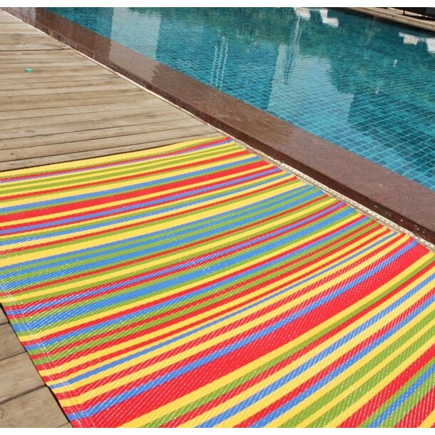 Green Decore Funzie Multi Coloured Indoor Outdoor Area Rug