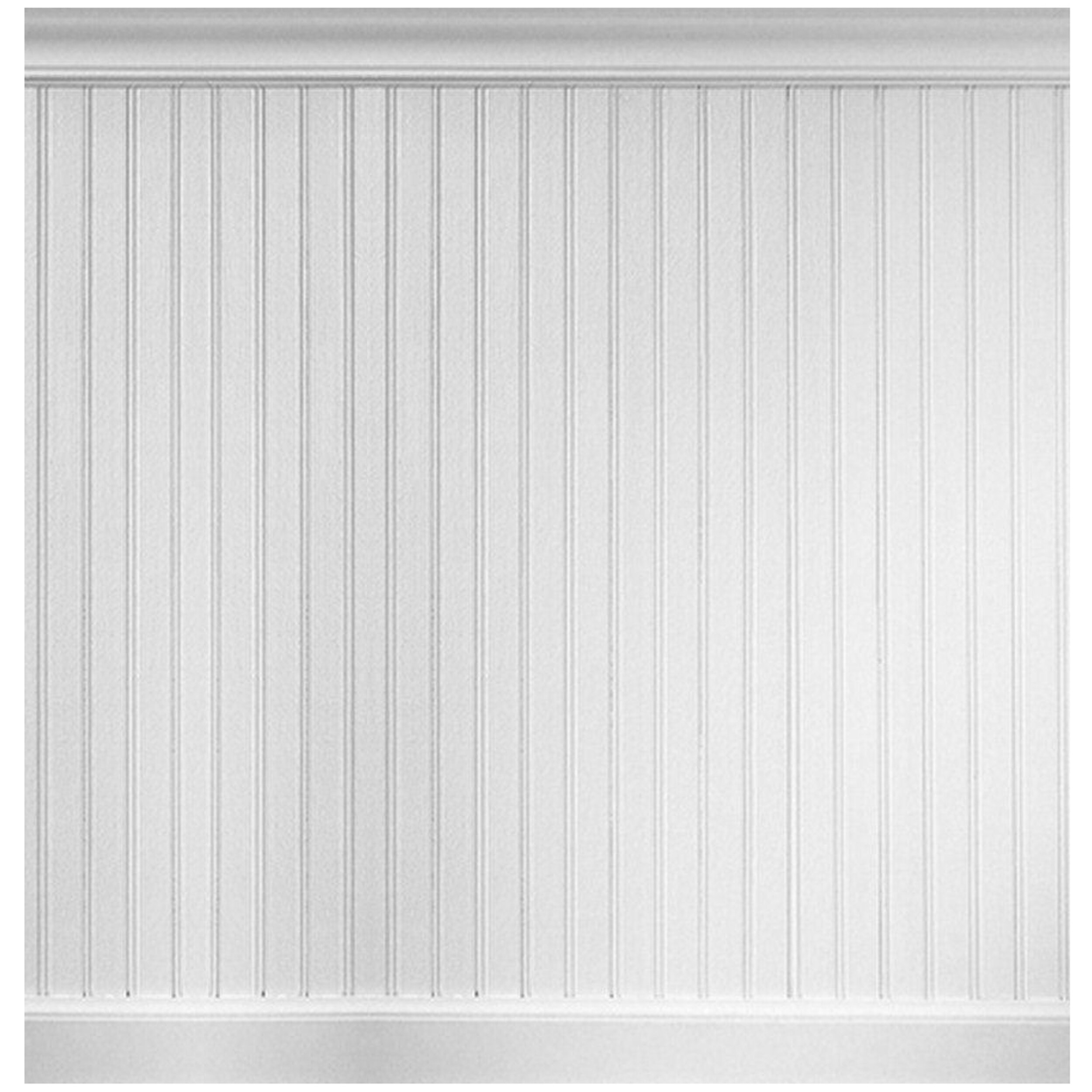 8 linear ft mdf overlapping wainscot paneling kit wayfair. Black Bedroom Furniture Sets. Home Design Ideas