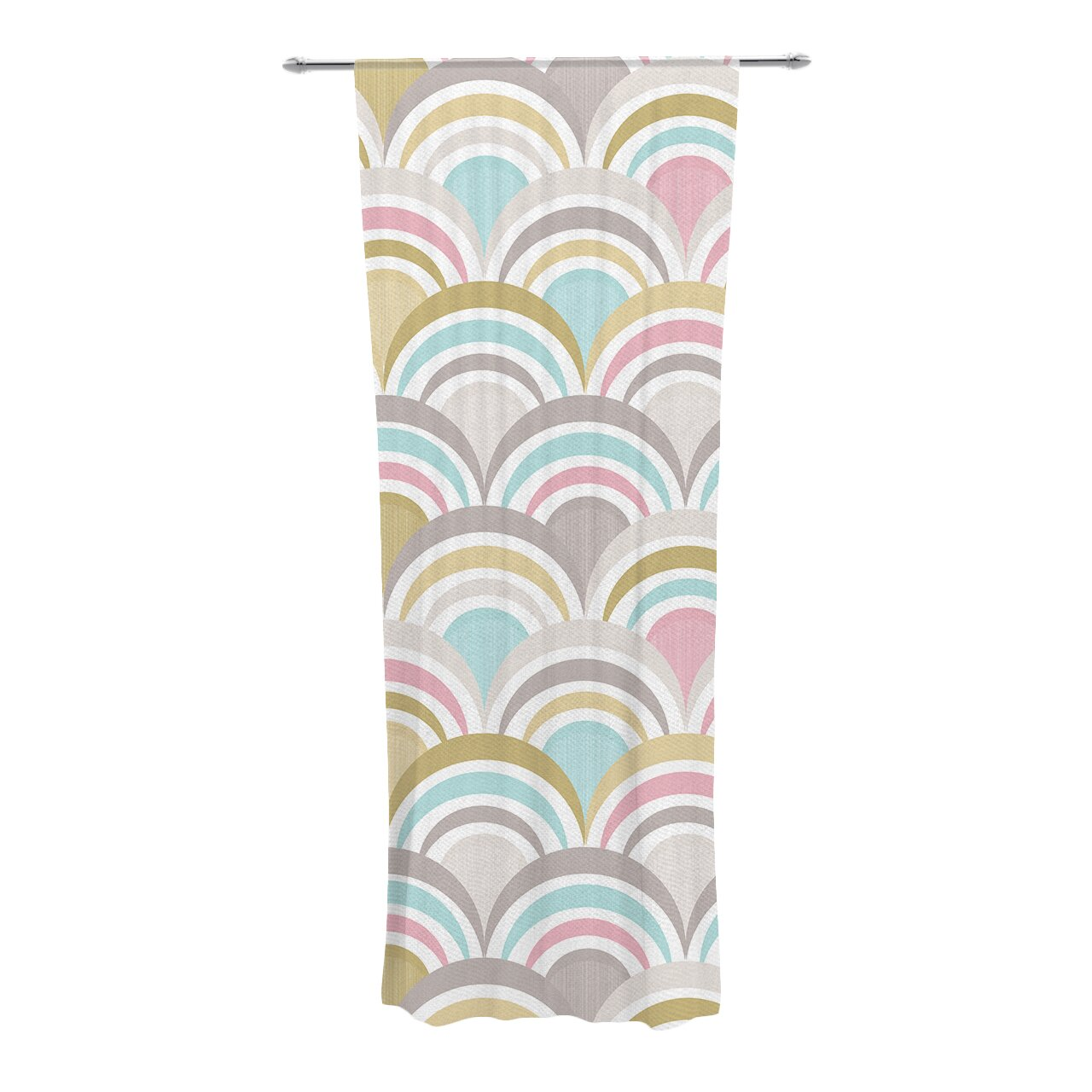 KESS InHouse Art Deco Delight Curtain Panels
