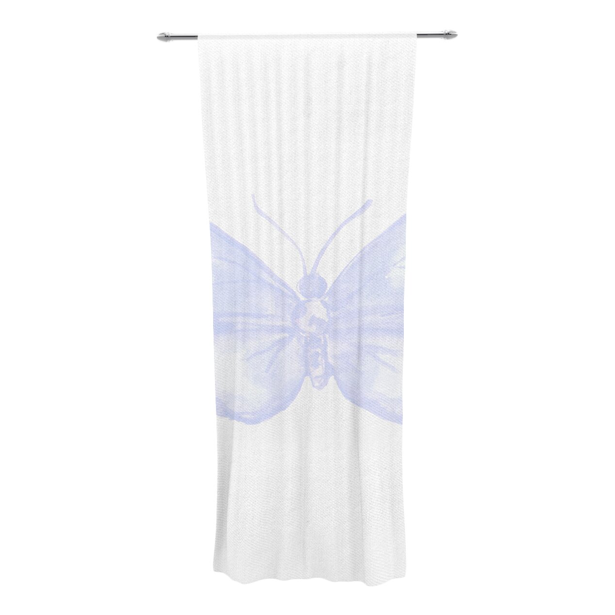 Lavender Butterfly Curtain Panel by KESS InHouse