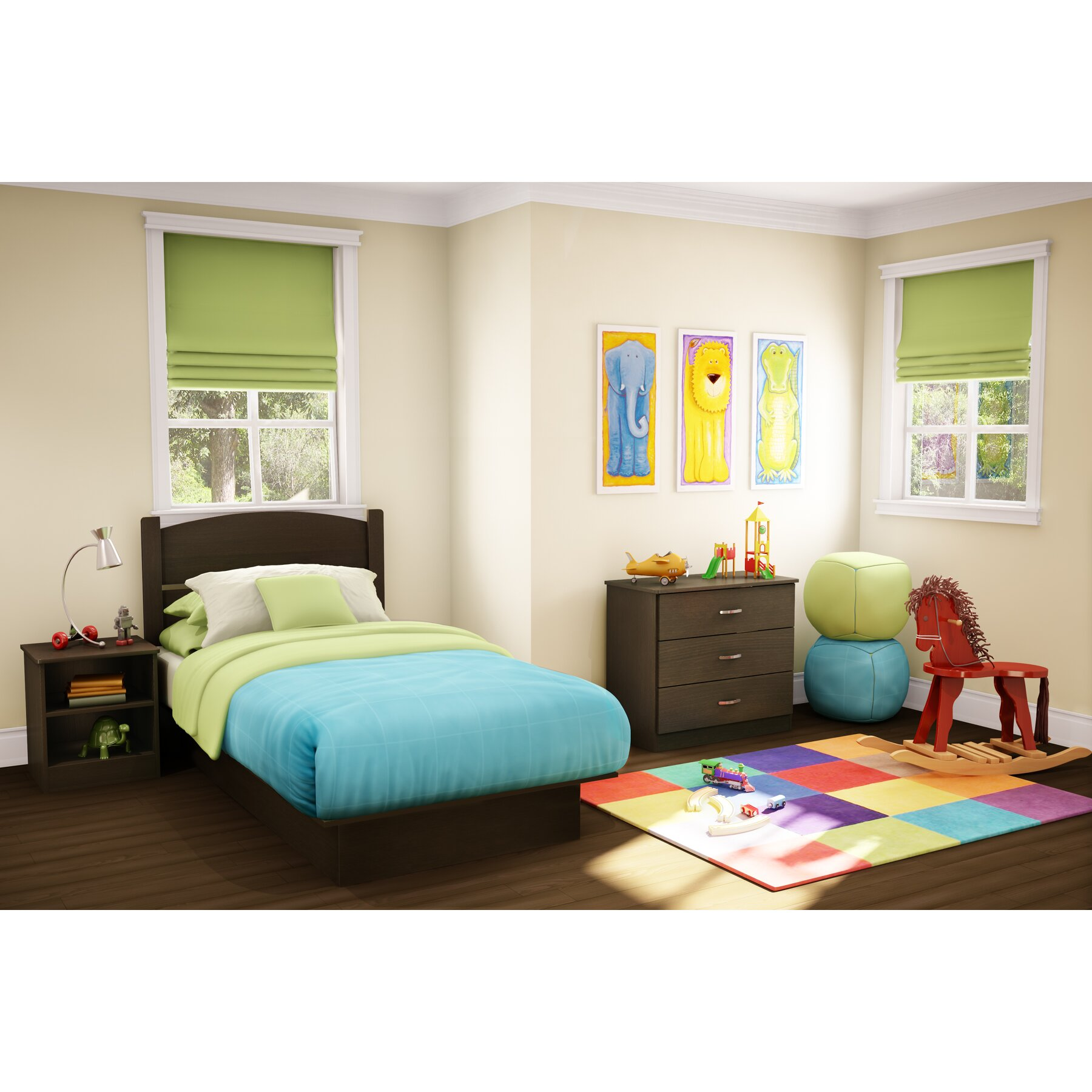 South Shore Libra Panel 3 Piece Bedroom Set & Reviews ...