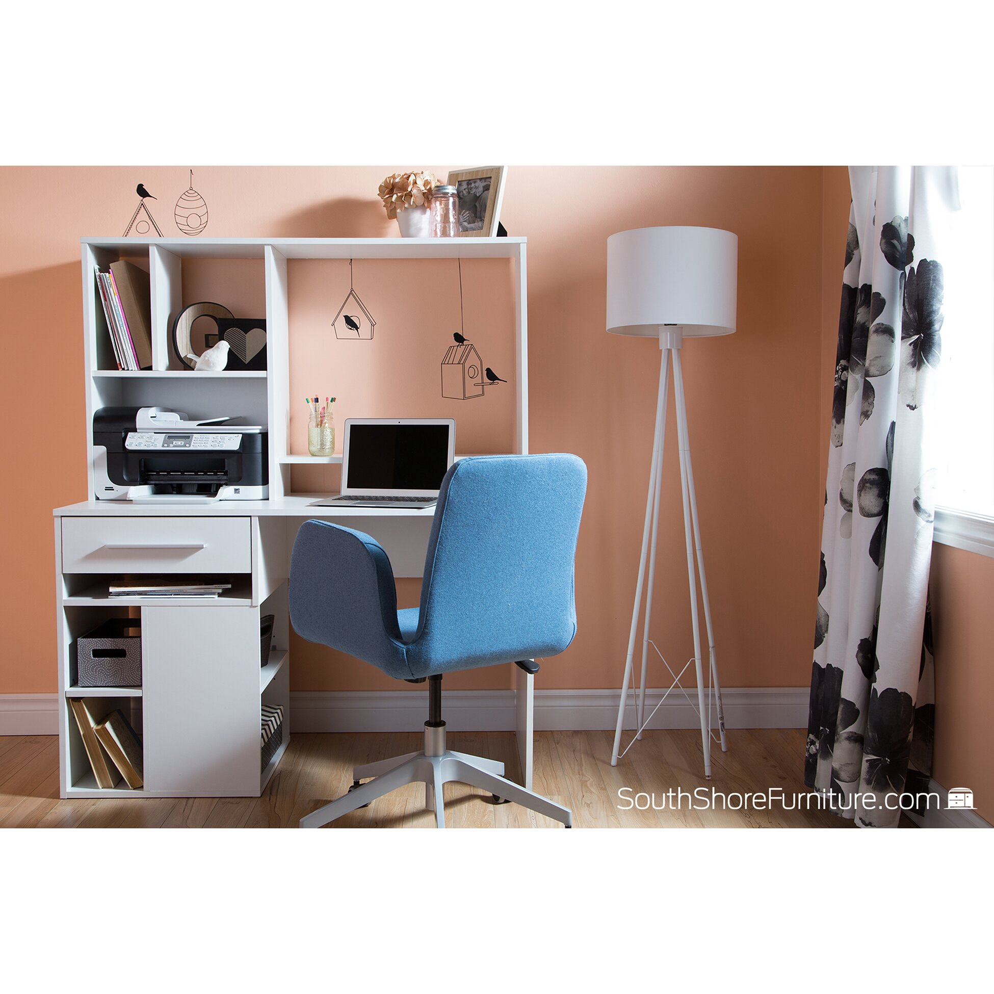 South Shore Annexe Computer Desk With Hutch & Reviews
