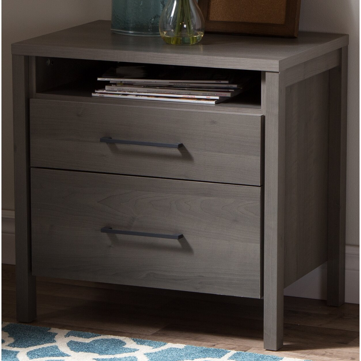 South shore gravity 2 drawer nightstand reviews wayfair - Pictures of nightstands ...