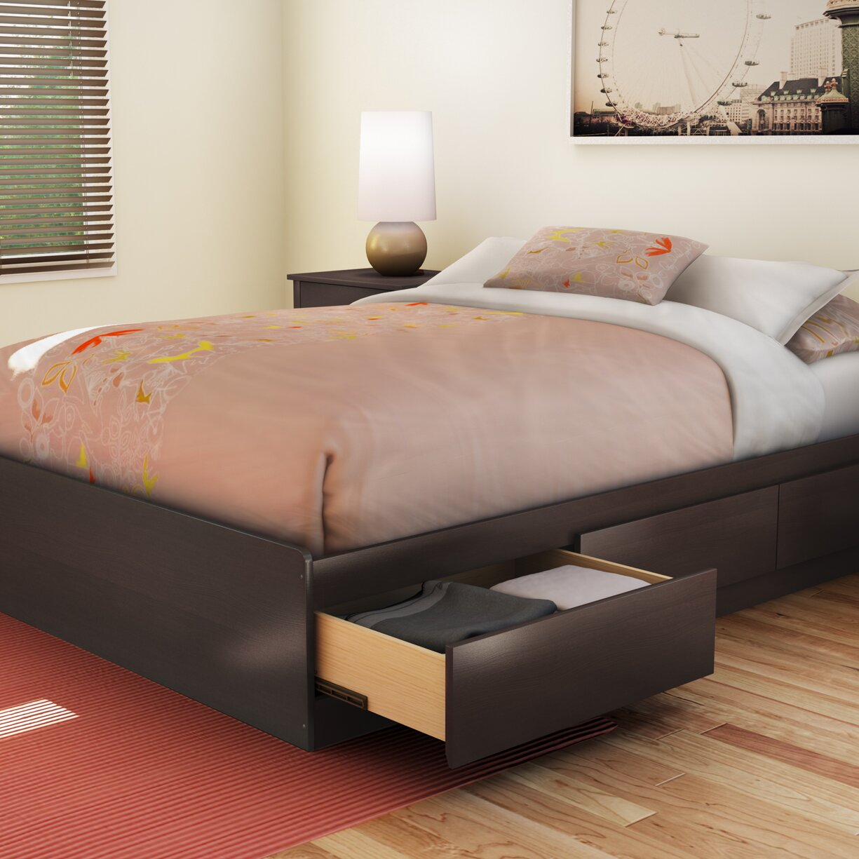 Full/Double Storage Platform Bed