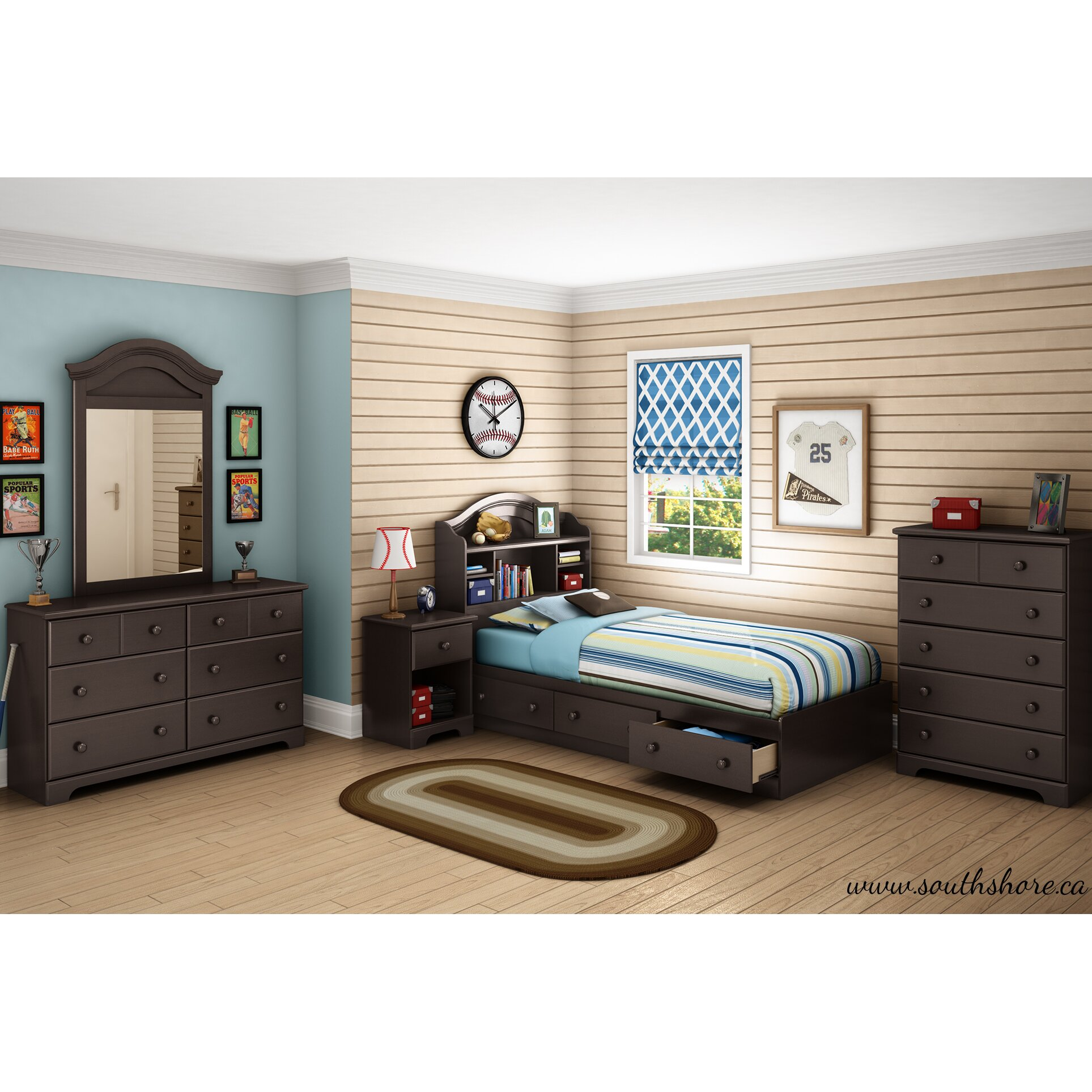 South Shore Summer Breeze Mate S Bed With Storage