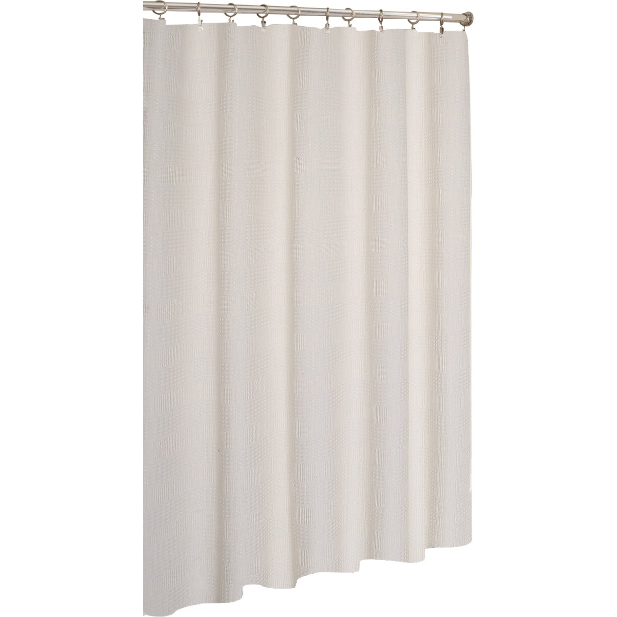 stripped hotel waffle shower curtain by dainty home