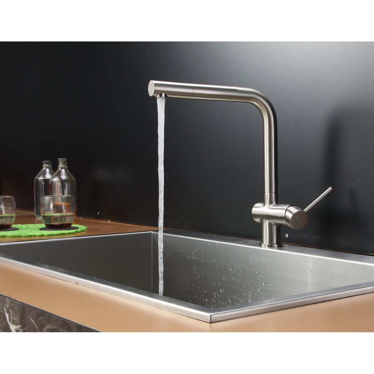 single bowl kitchen sink drop in tirana 33 quot x 21 quot drop in single bowl kitchen sink wayfair 9304