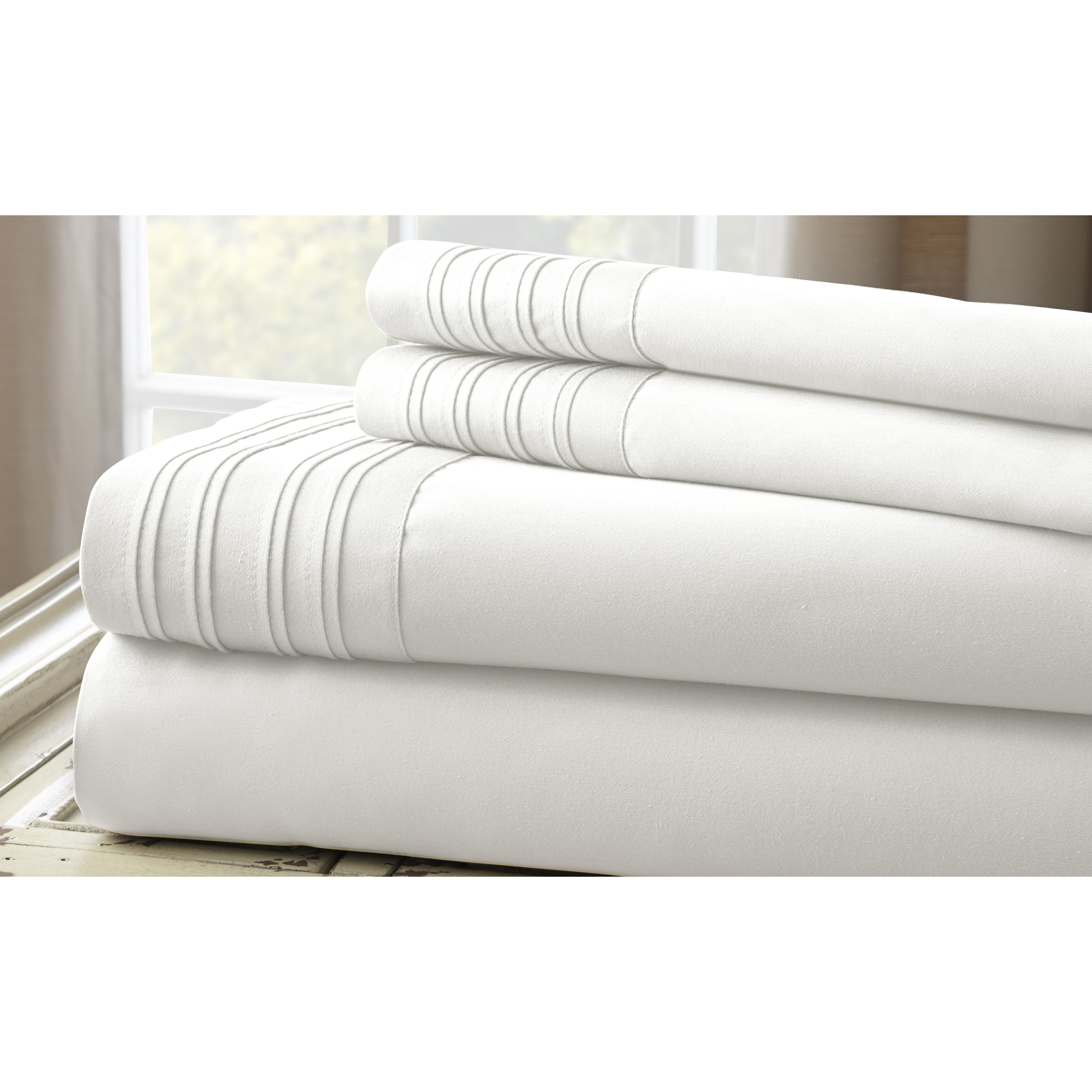 Colonial textiles 1000 thread count 4 piece sheet set for What is thread count in sheets