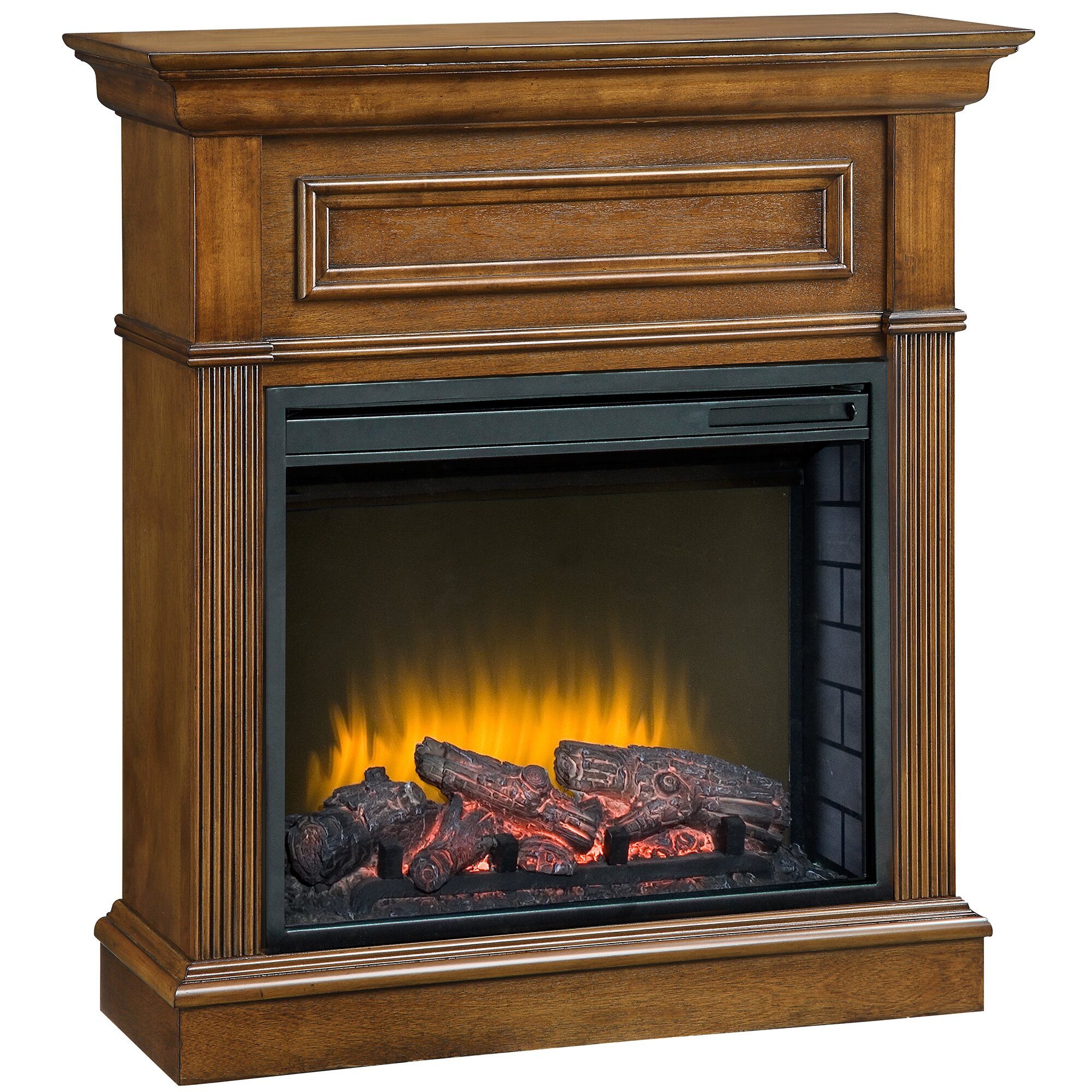 """Fireplace Hearth: Pleasant Hearth Hawthorne Compact 23"""" Electric Fireplace"""