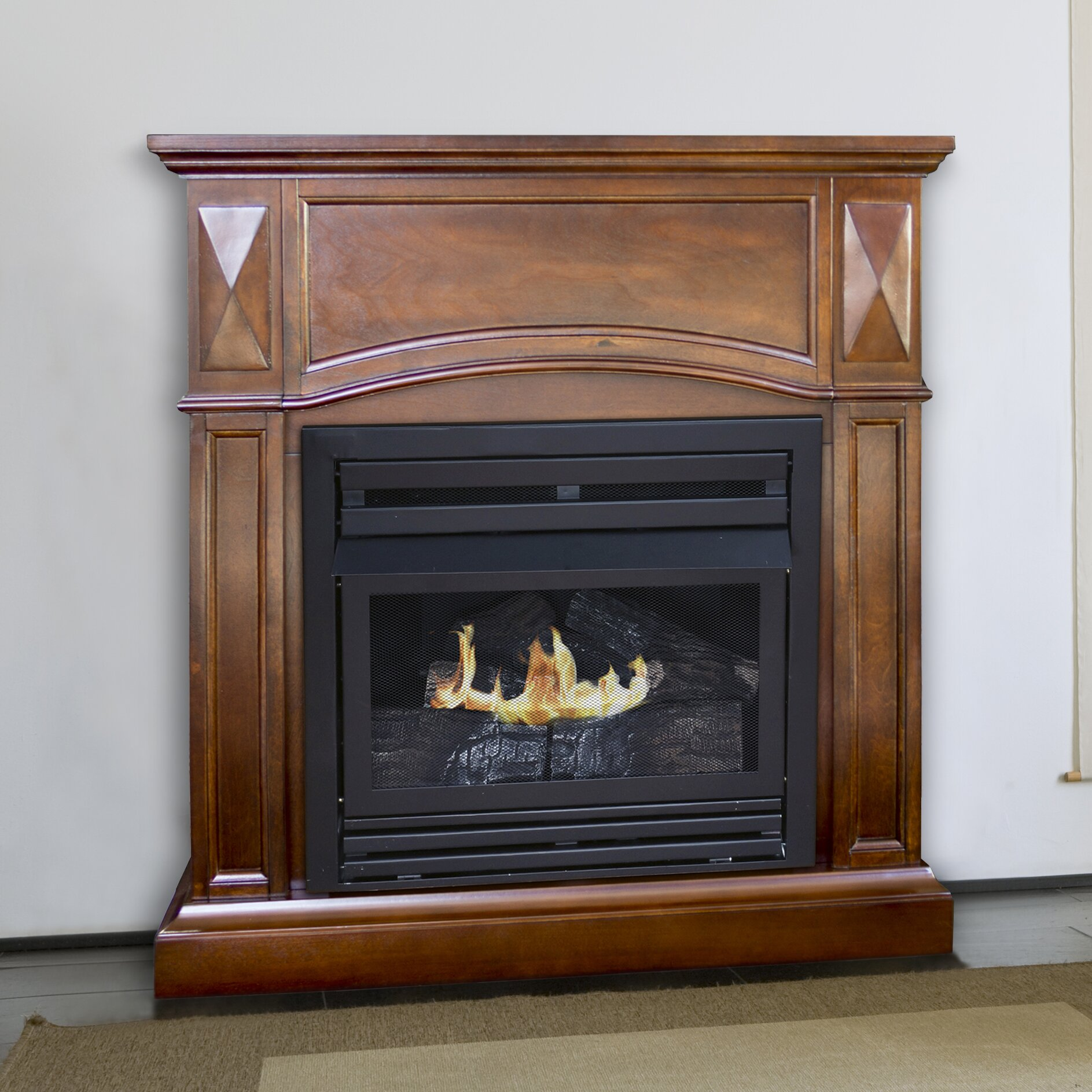 Dual Fuel Vent Free Wall Mount Natural Gas Fireplace