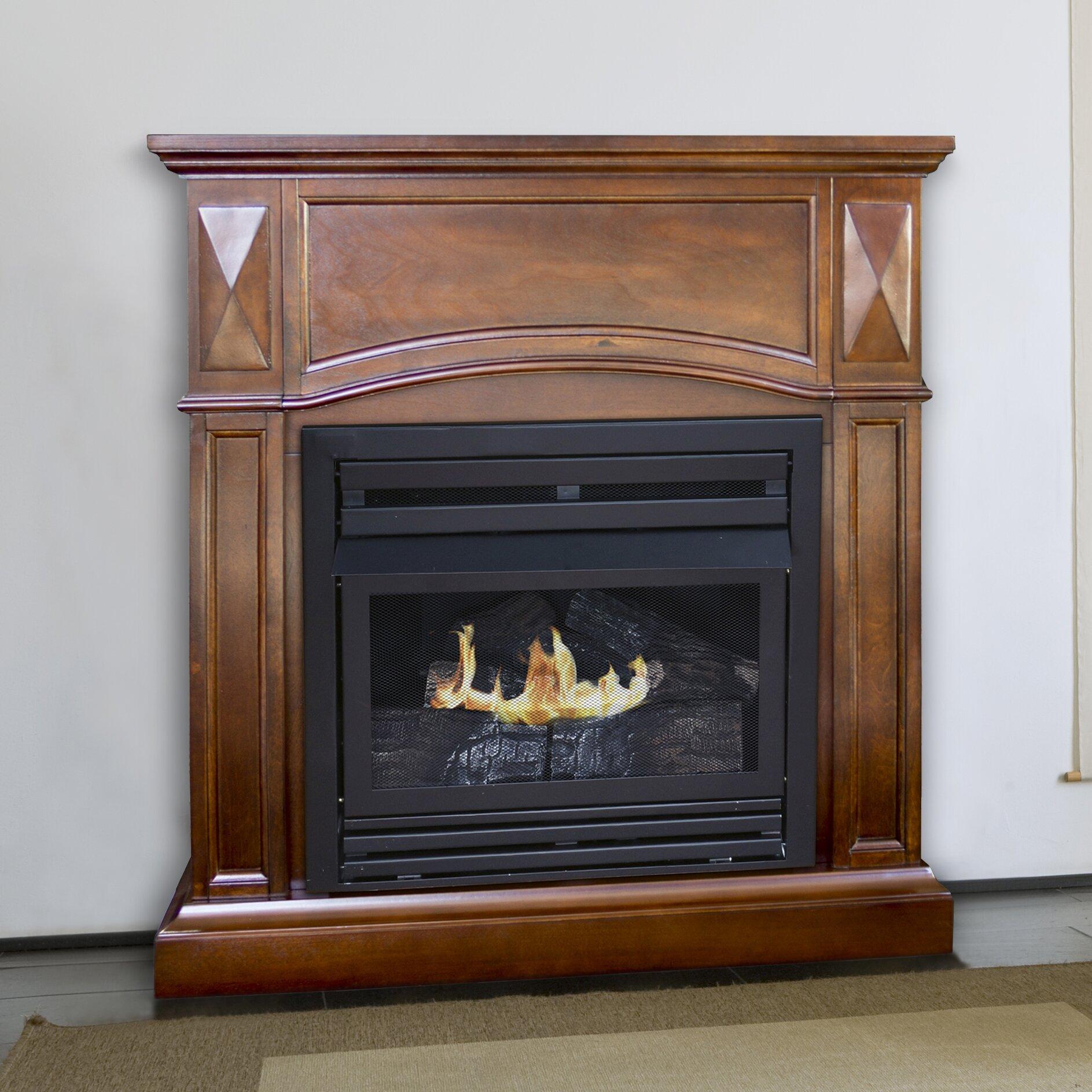 dual fuel vent free wall mount gas fireplace wayfair