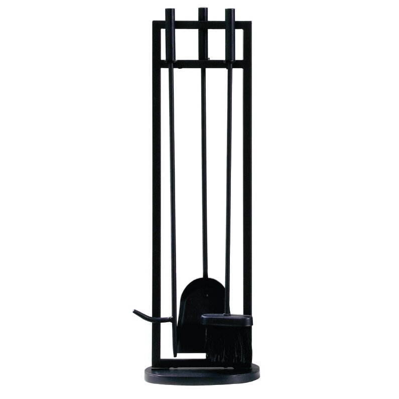Classic piece steel fireplace tool set wayfair