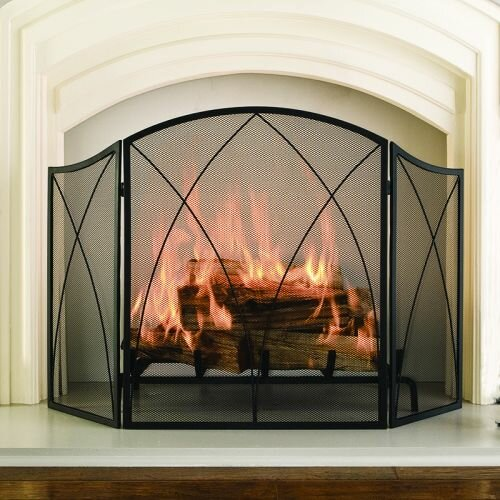 pleasant hearth arched 3 panel fireplace screen reviews