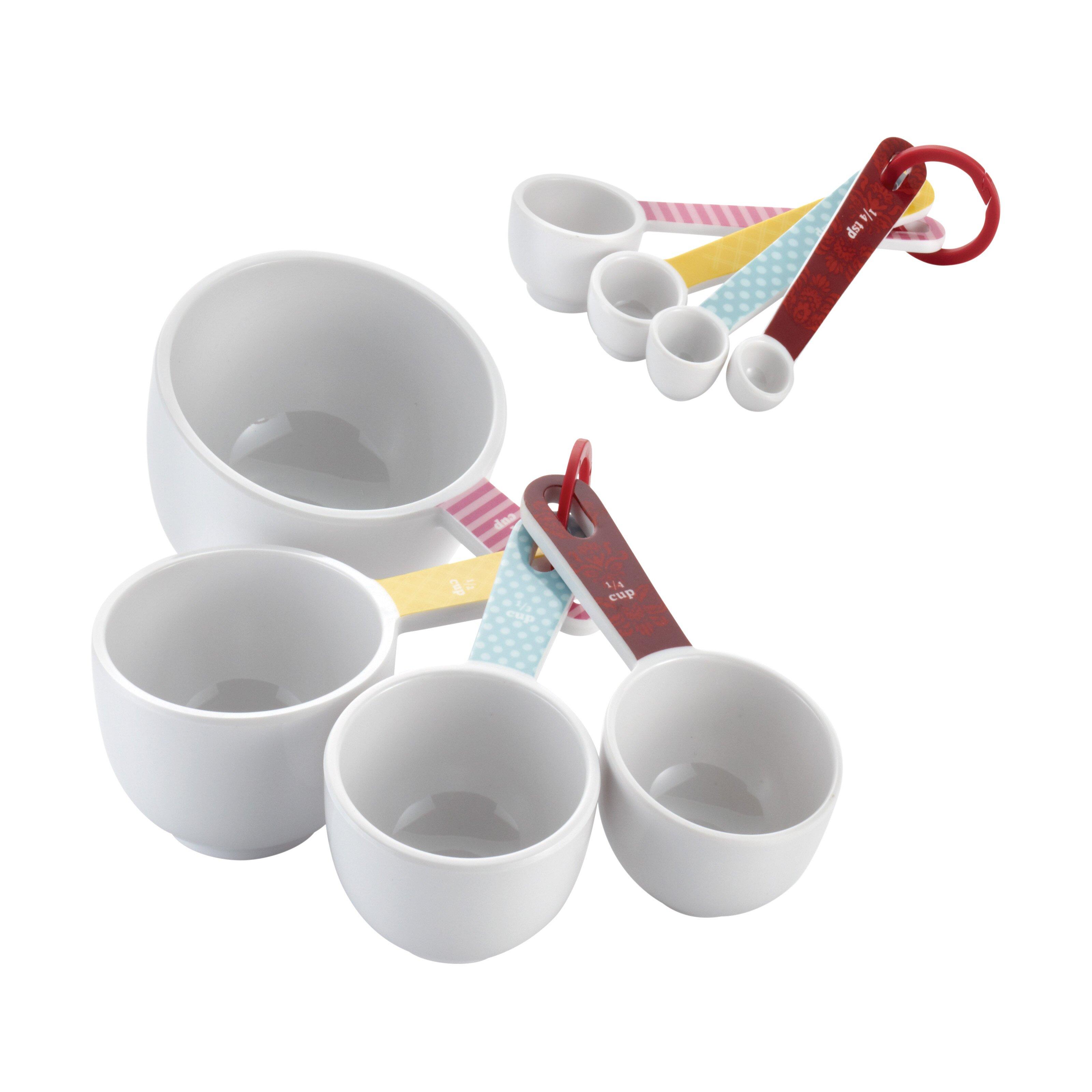 cake boss countertop accessories 8 piece measuring cup spoon set reviews wayfair. Black Bedroom Furniture Sets. Home Design Ideas