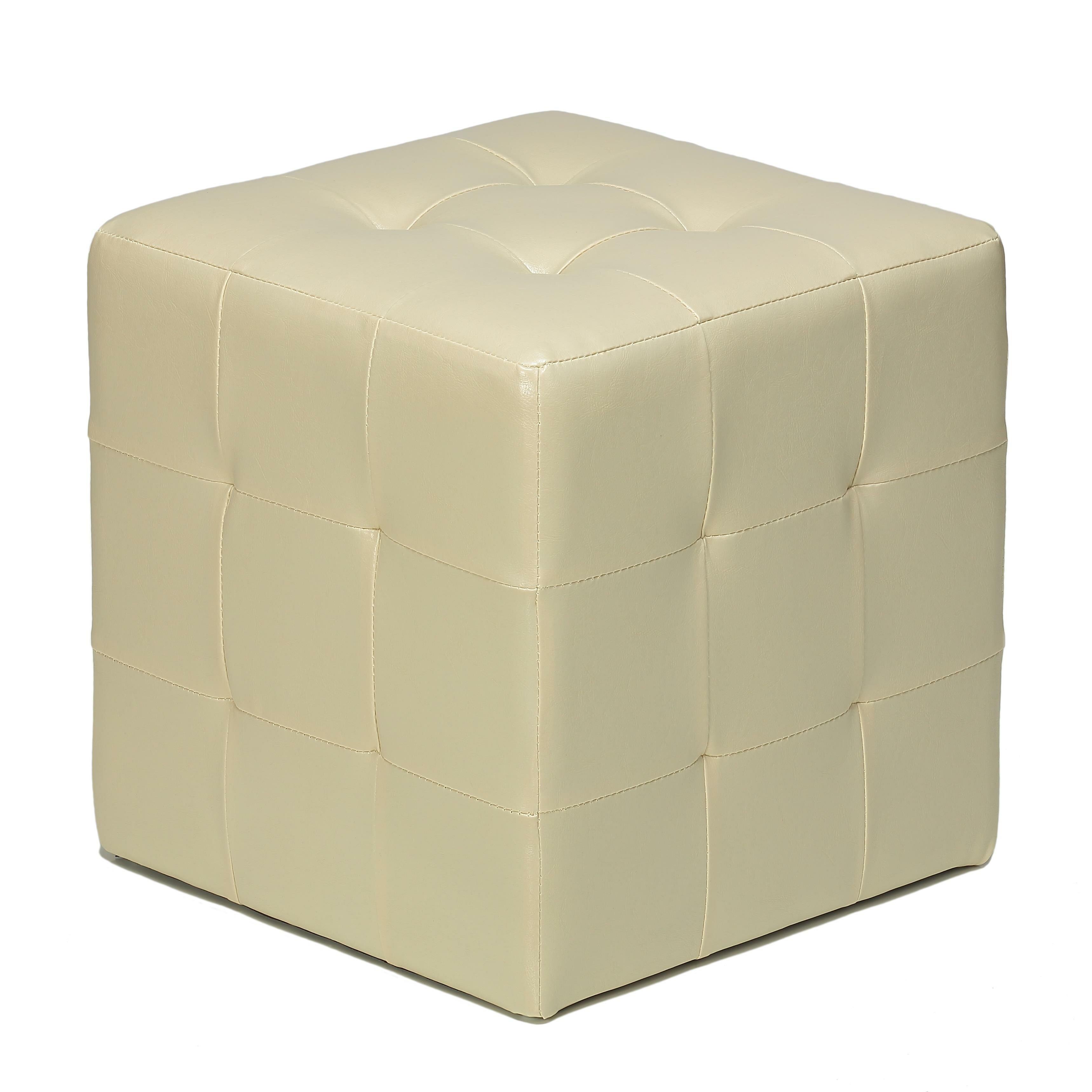 cortesi home braque cube ottoman reviews wayfair. Black Bedroom Furniture Sets. Home Design Ideas