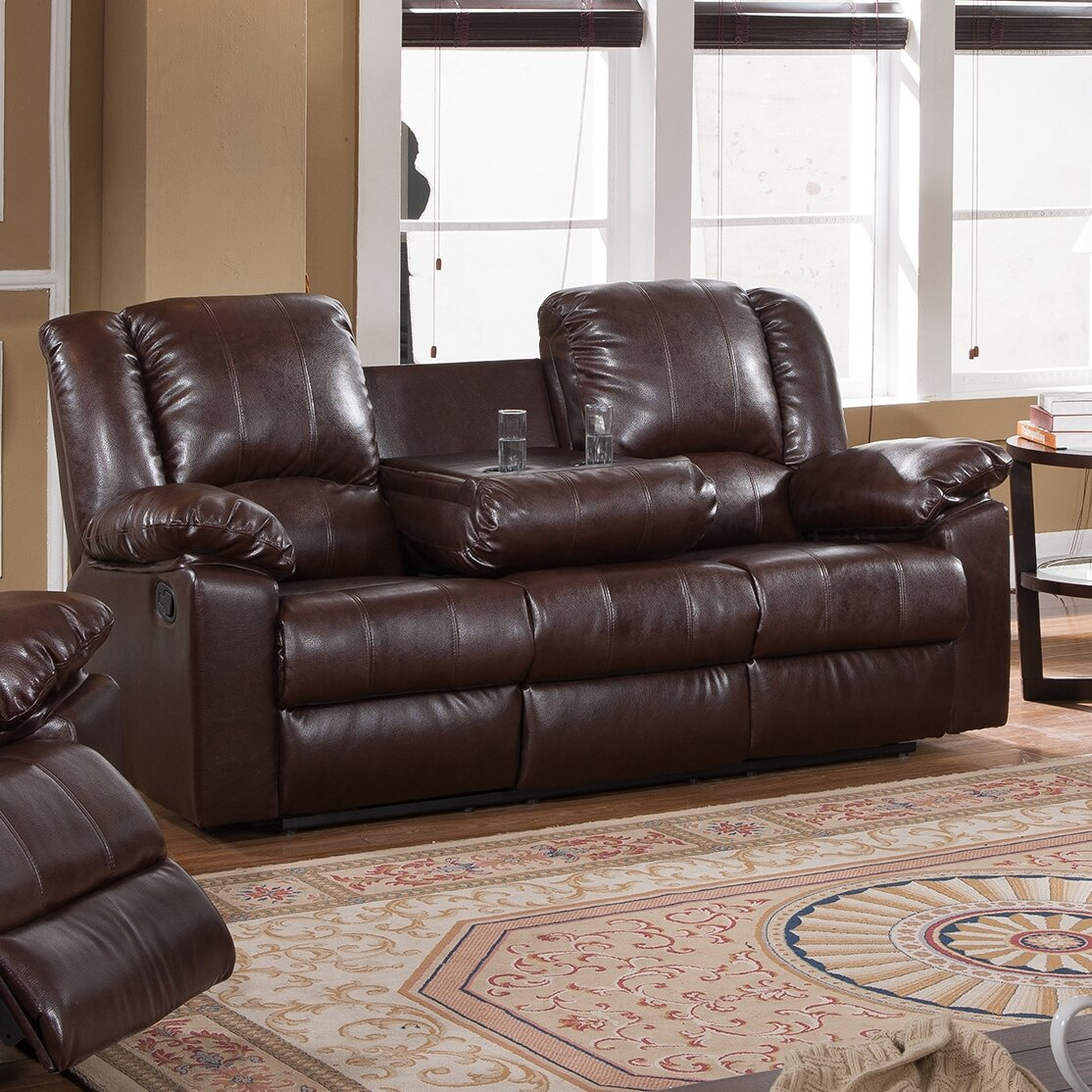 Milton Green Star Burgas Reclining Sofa With Drop-Down Cup