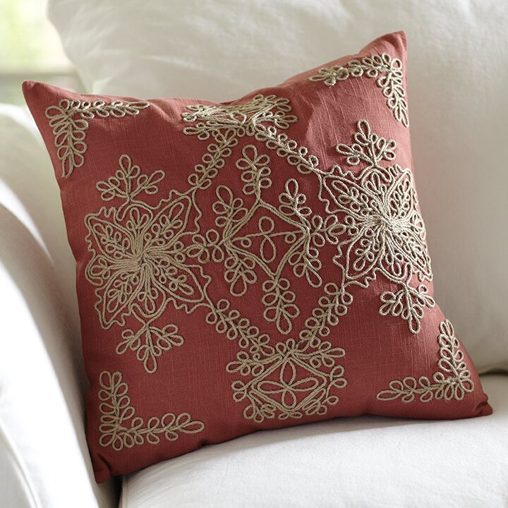 Wayfair Decorative Pillow Covers : Mia Embroidered Pillow Cover Wayfair