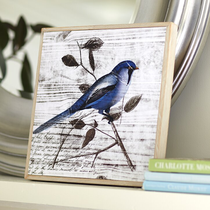 Blue Color Wall Decor : Blue birds wall art i wayfair