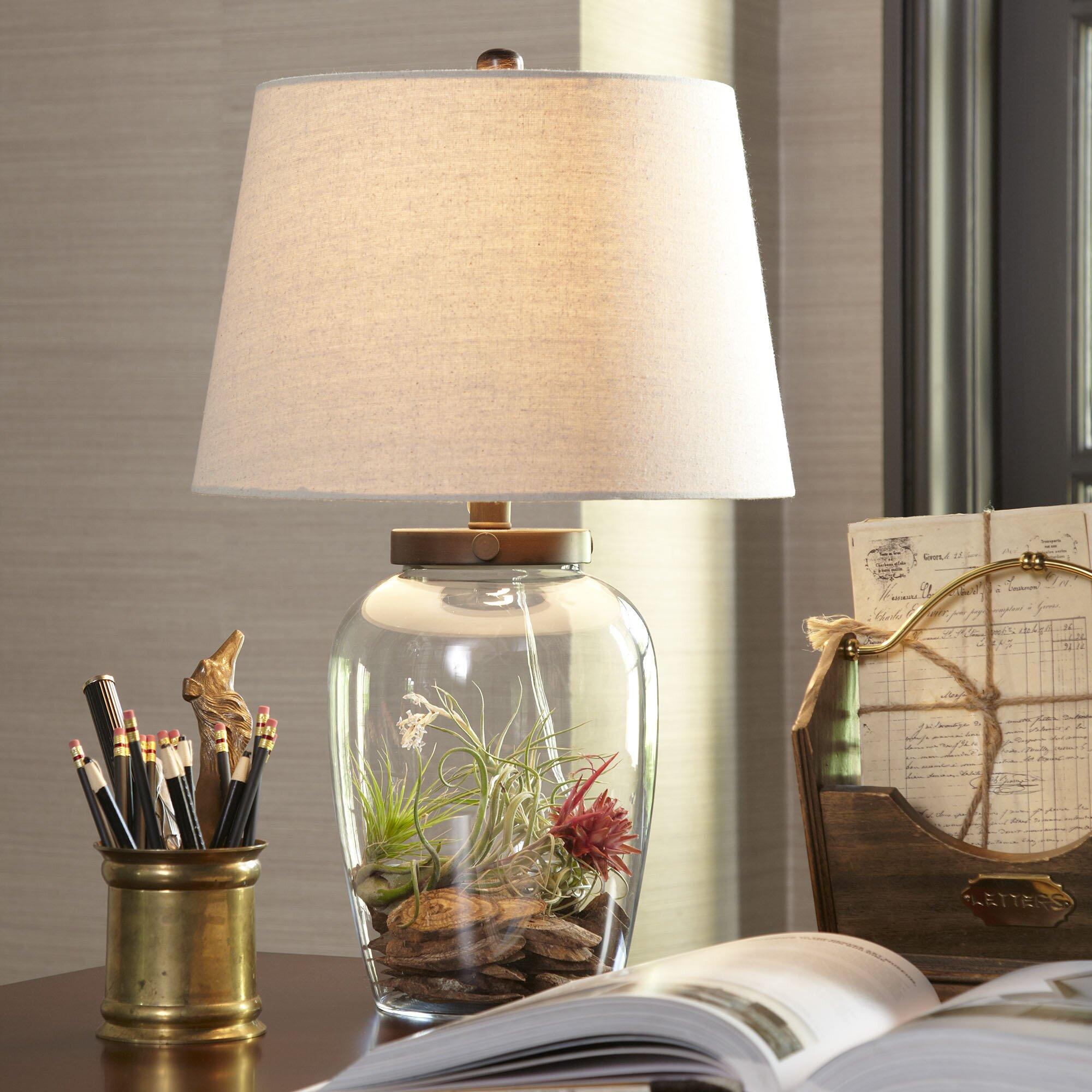 birch lane wallington glass table lamp reviews wayfair. Black Bedroom Furniture Sets. Home Design Ideas