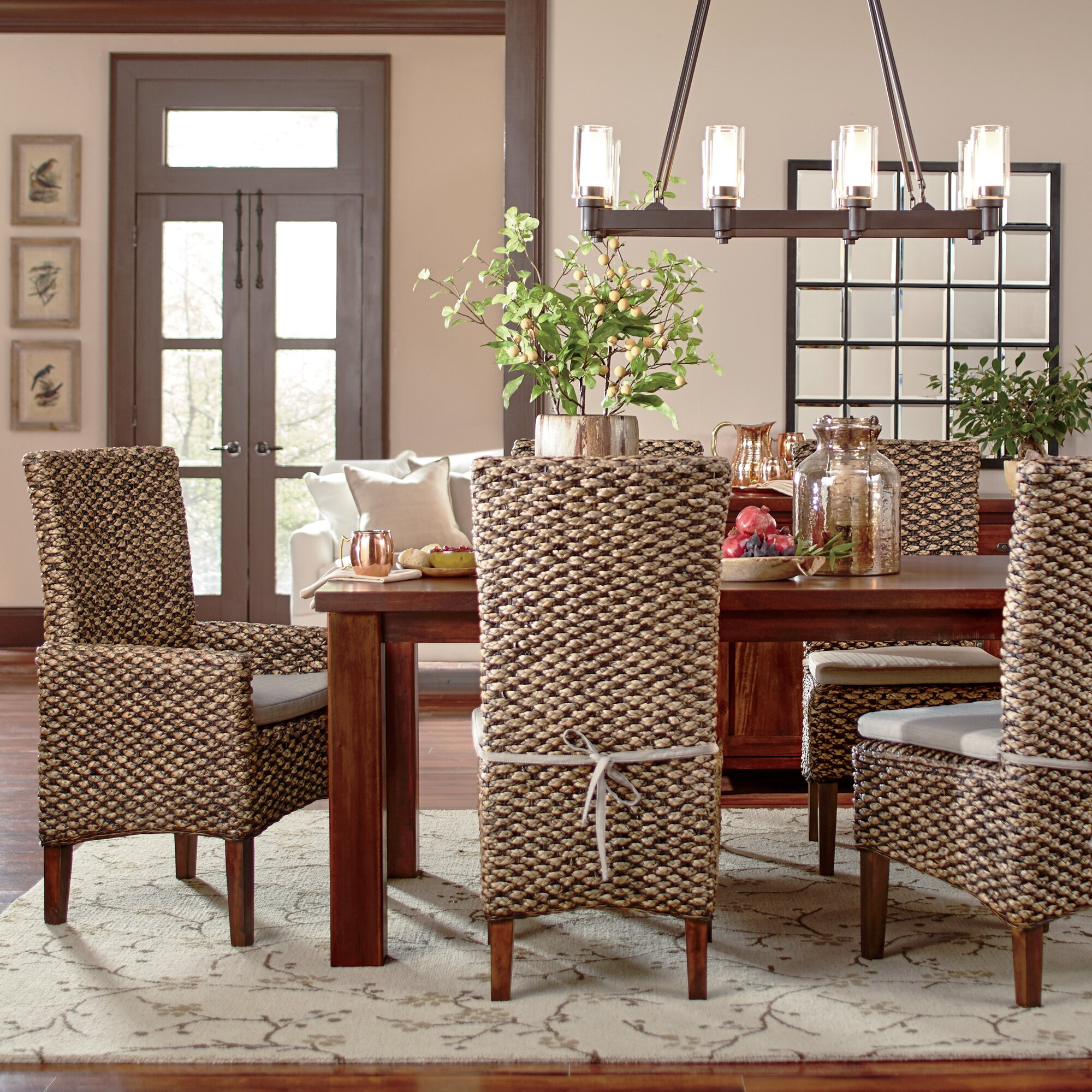 Woven Dining Chairs: Woven Seagrass Side Chairs