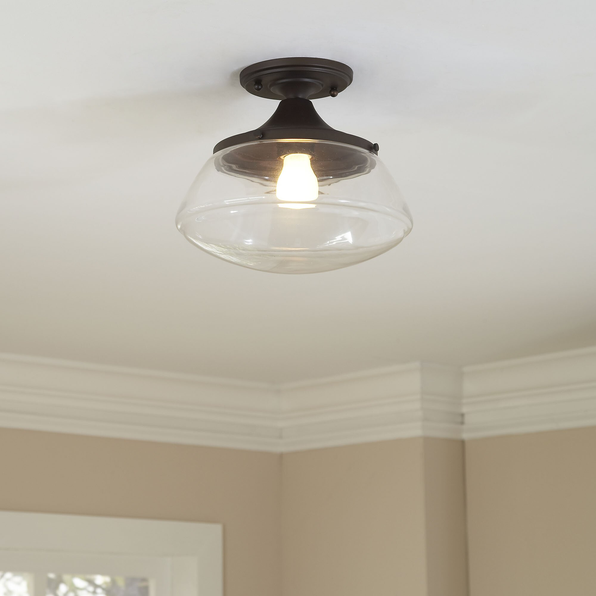 Birch Lane Norfolk 1 Light Semi Flush Mount & Reviews