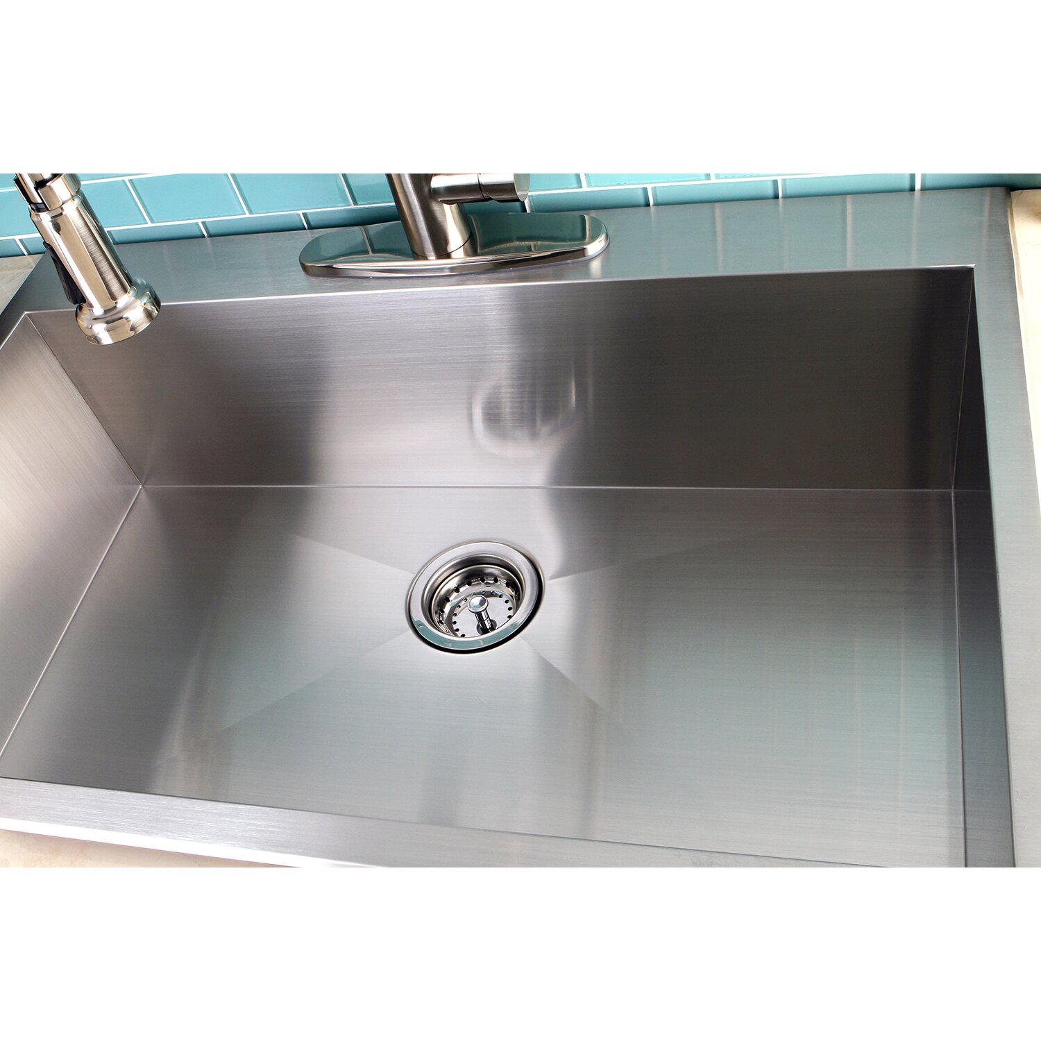 "Uptowne 33"" x 22"" Self Rimming Single Bowl Kitchen Sink"