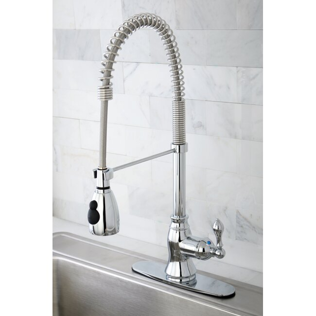 Kingston Brass American Classic Gourmetier Single Handle Kitchen Faucet