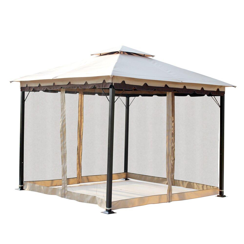 10 Ft 10 Ft Canopy : Ft w d steel gazebo wayfair