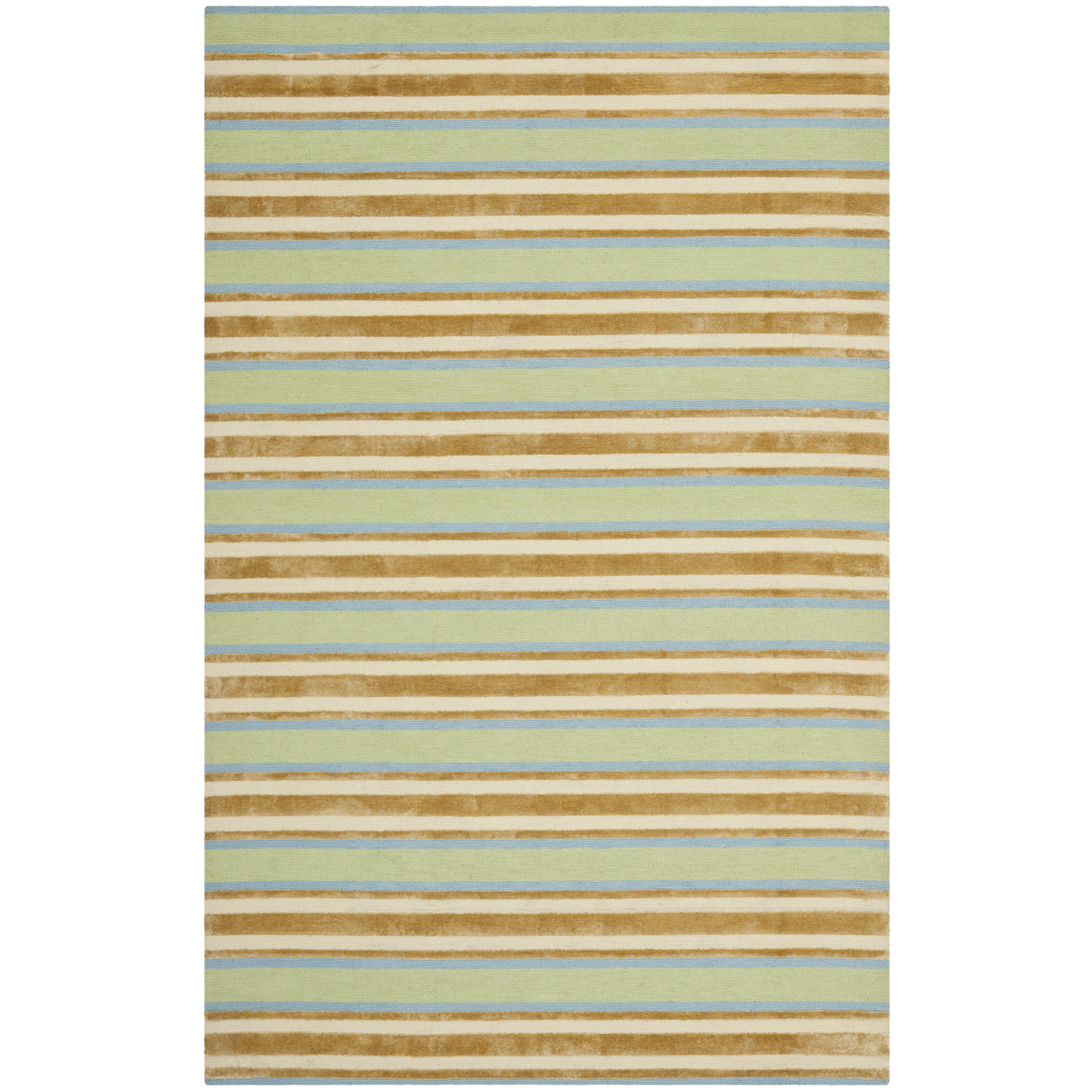 Isaac Mizrahi Orange Green Striped Rug Allmodern