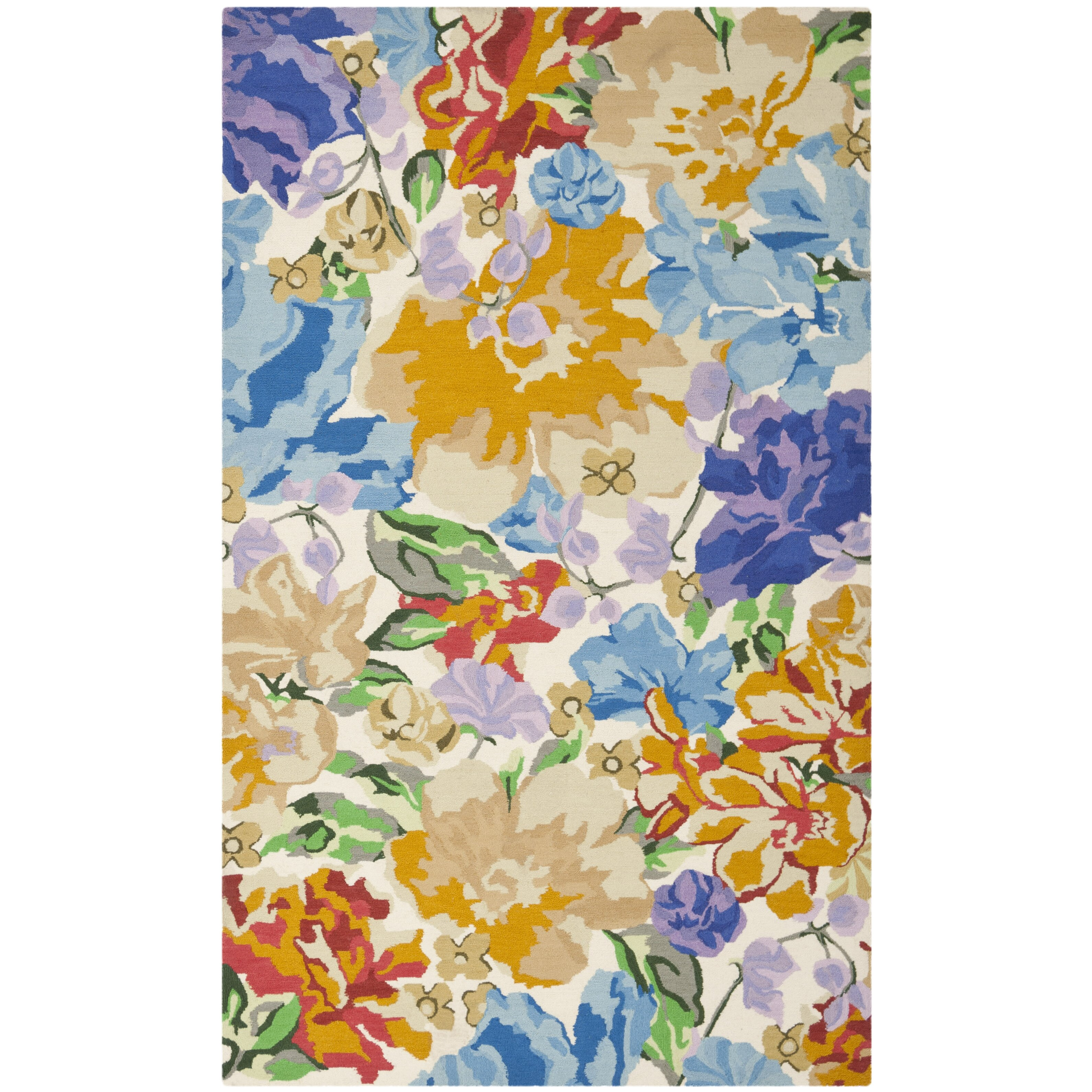 Multi Floral Area Rug Wayfair