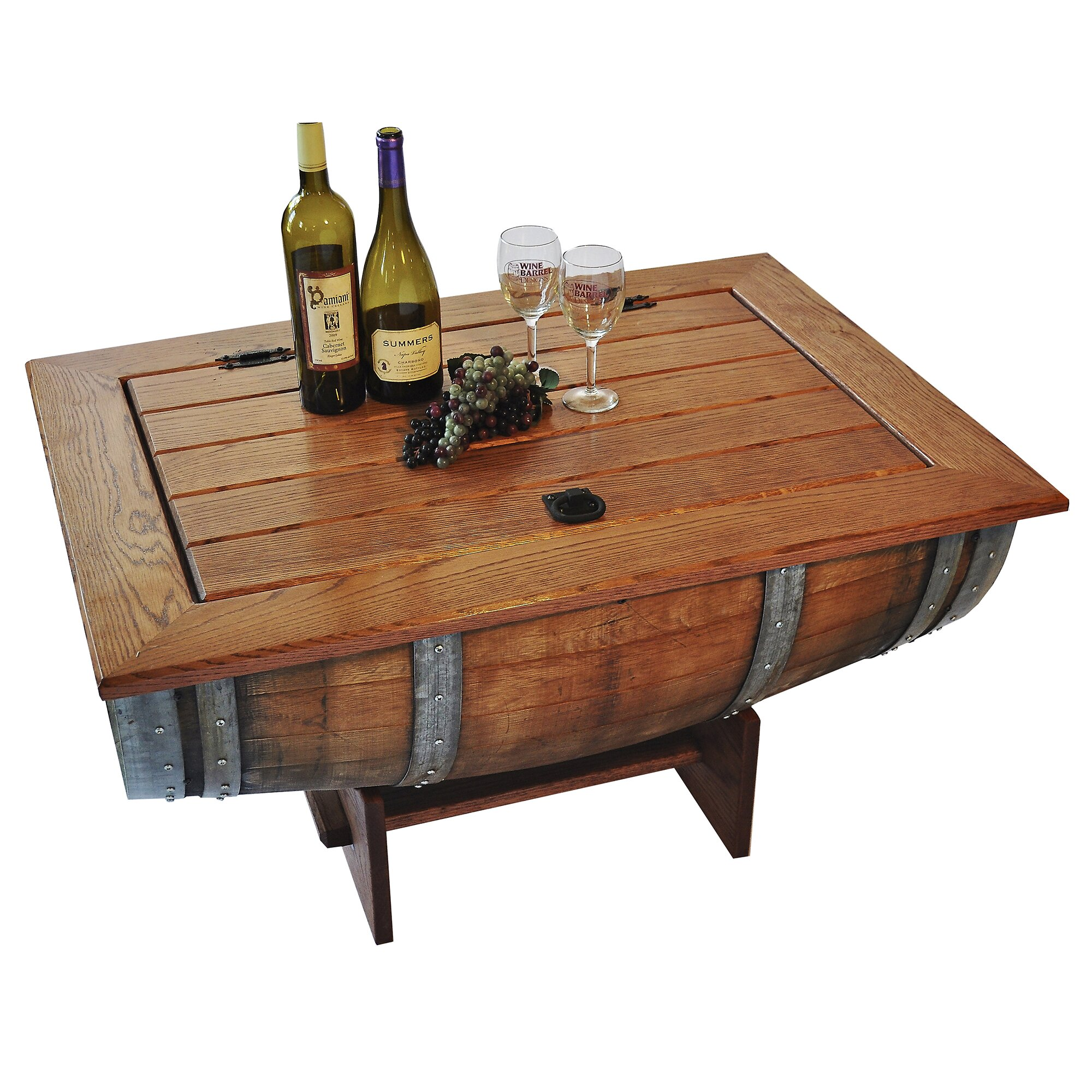 Wine barrel coffee table wayfair Collectors coffee table