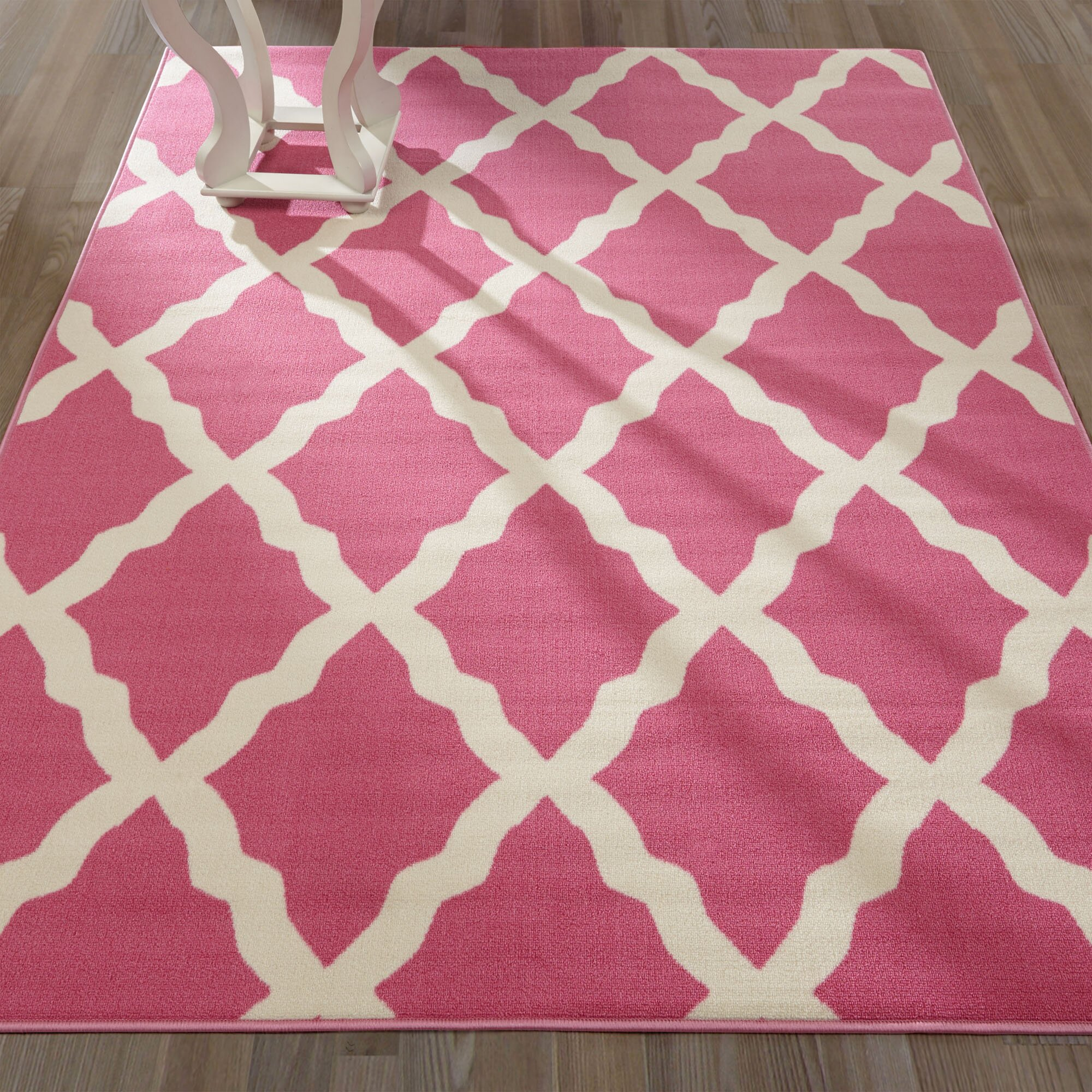 glamour machine woven hot pink area rug wayfair