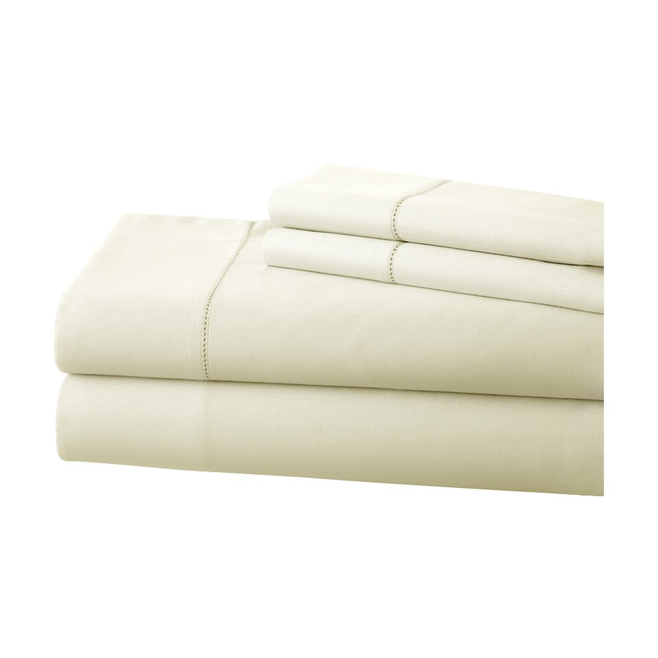 Amrapur fine linens 400 thread count cotton sheet set for What is thread count in sheets