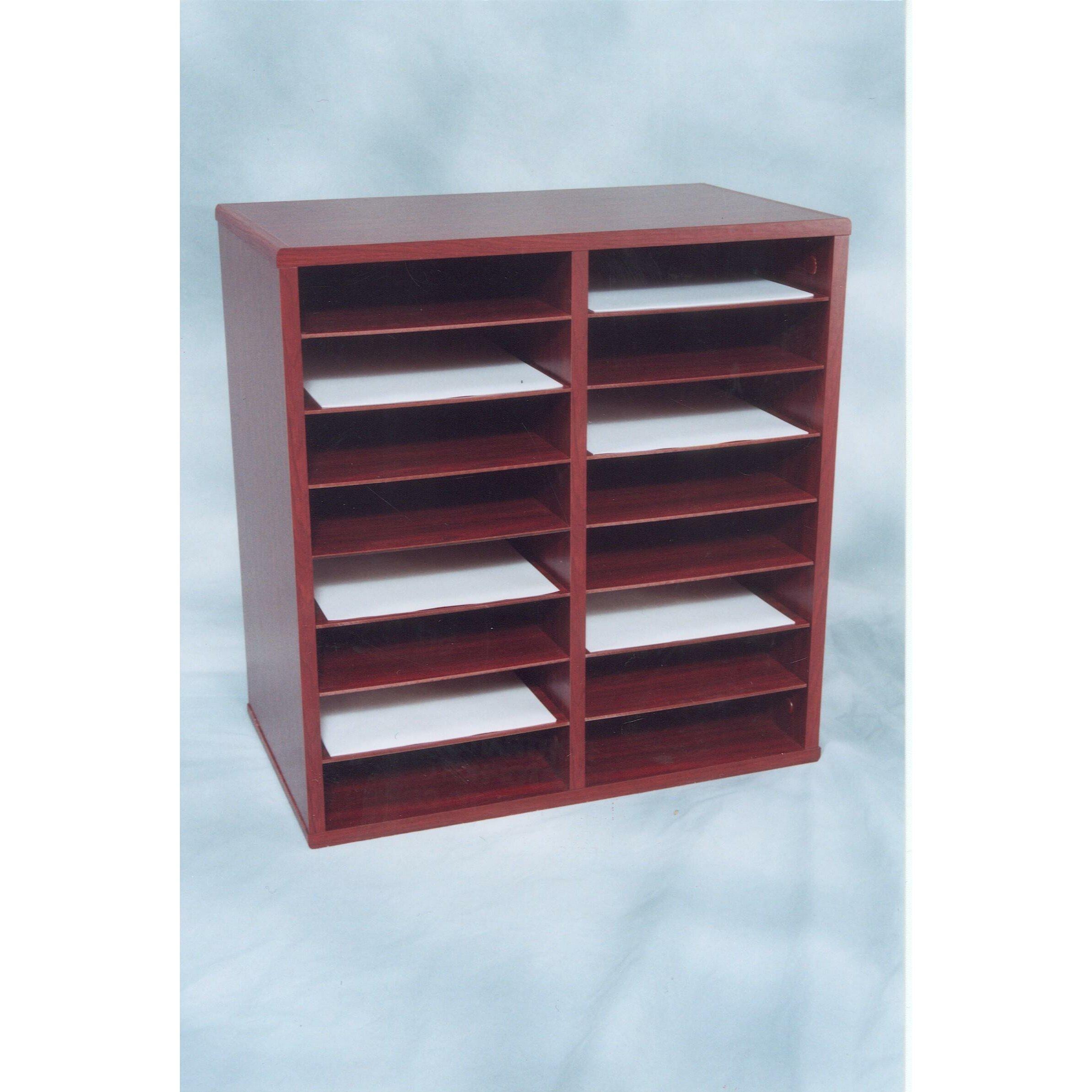 16 compartment laminate literature organizer wayfair for Abanos furniture industries decoration llc
