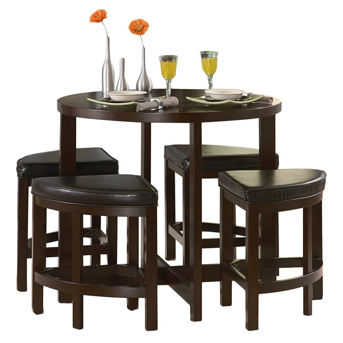 Counter Height Garden Boxes : ... Hill Brussel II 5 Piece Counter Height Dining Set & Reviews Wayfair