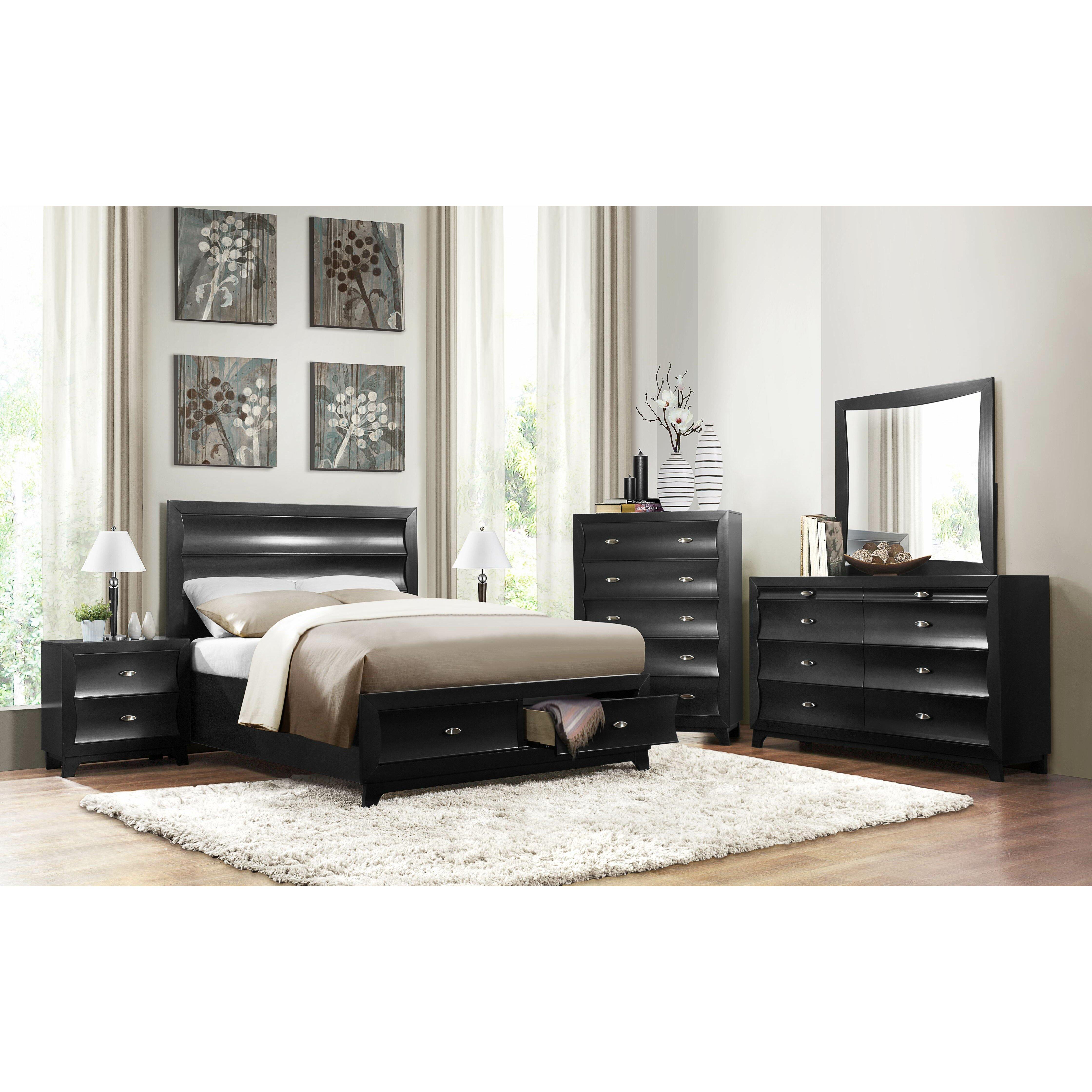Platform Bedroom Sets Queen vig furniture modrest platform bedroom